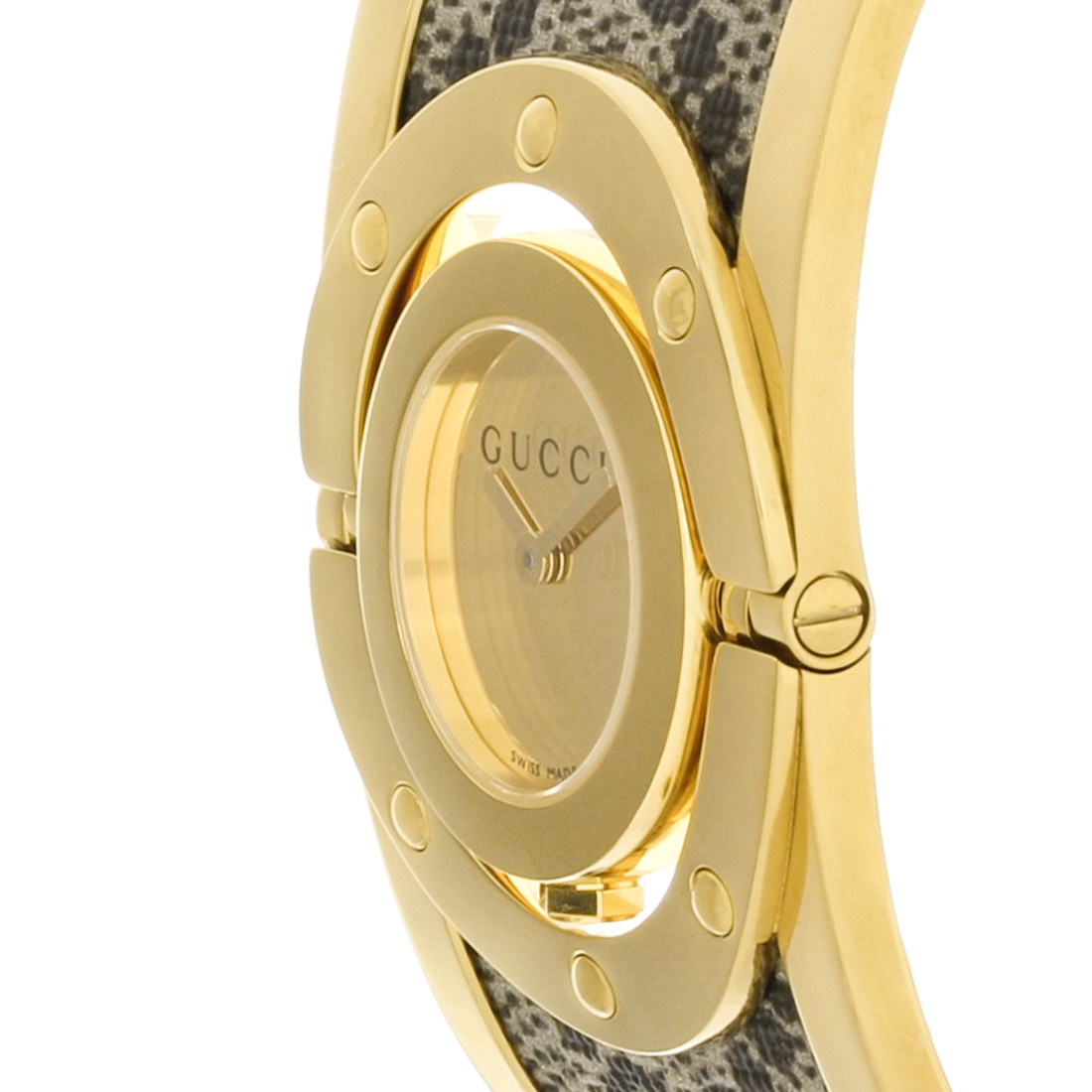 b796bd50fb9 Gucci 112 Twirl Ladies Gold Tone Plated Stainless Steel Quartz Watch  YA112443