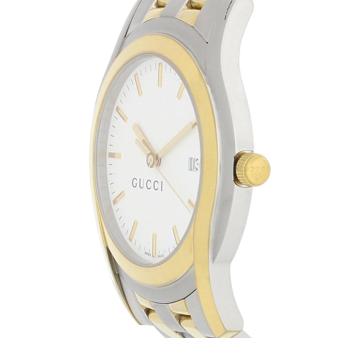 0c512f206f7 Gucci 5500 XL Series Mens White Dial Two Tone Dress Quartz Watch YA055216