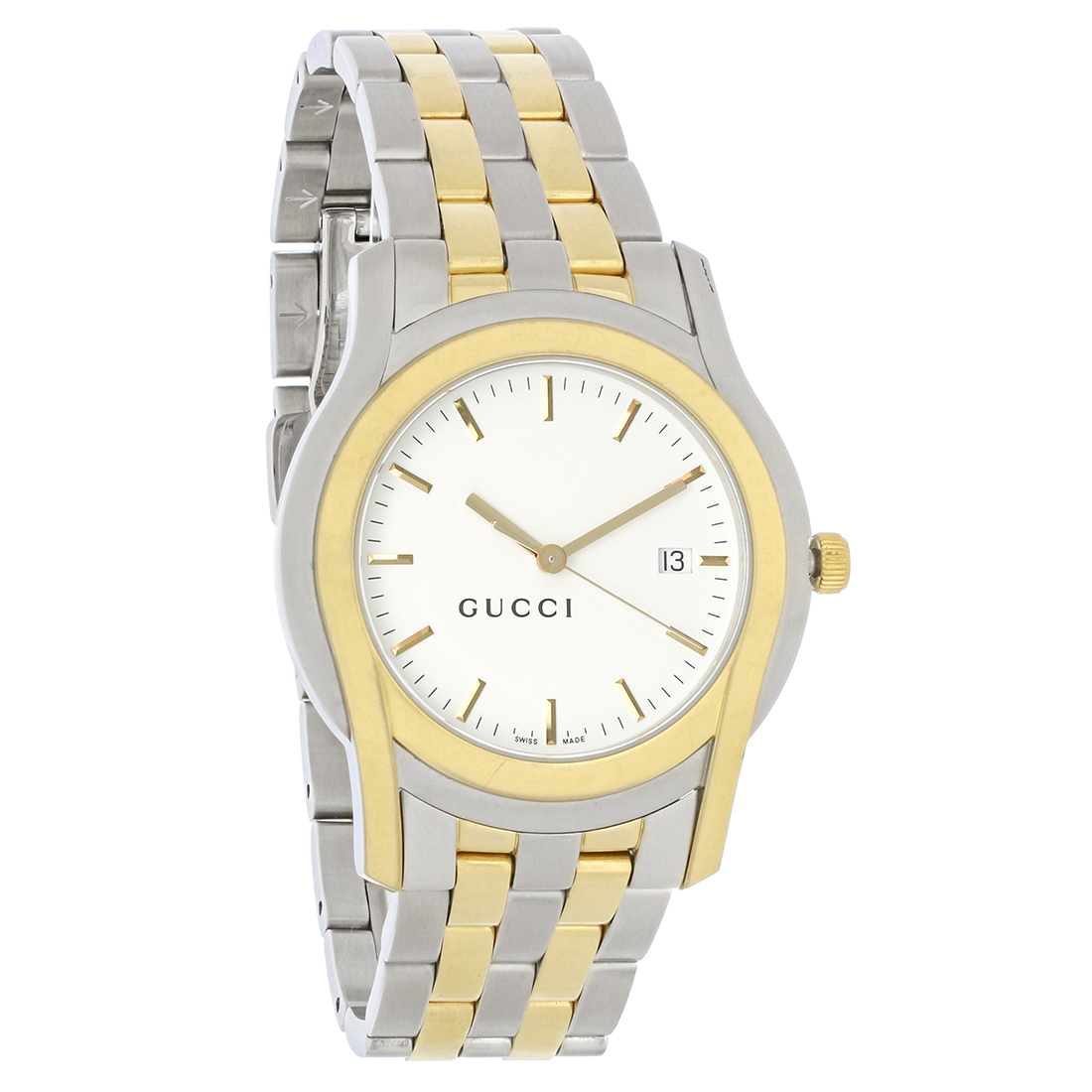 056800ac5c3 Gucci 5500 XL Series Mens White Dial Two Tone Dress Quartz Watch YA055216