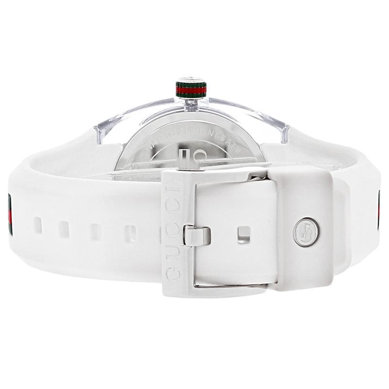 f000866e914 Gucci Sync White Red Green Rubber Strap Swiss Quartz Watch YA137302 ...