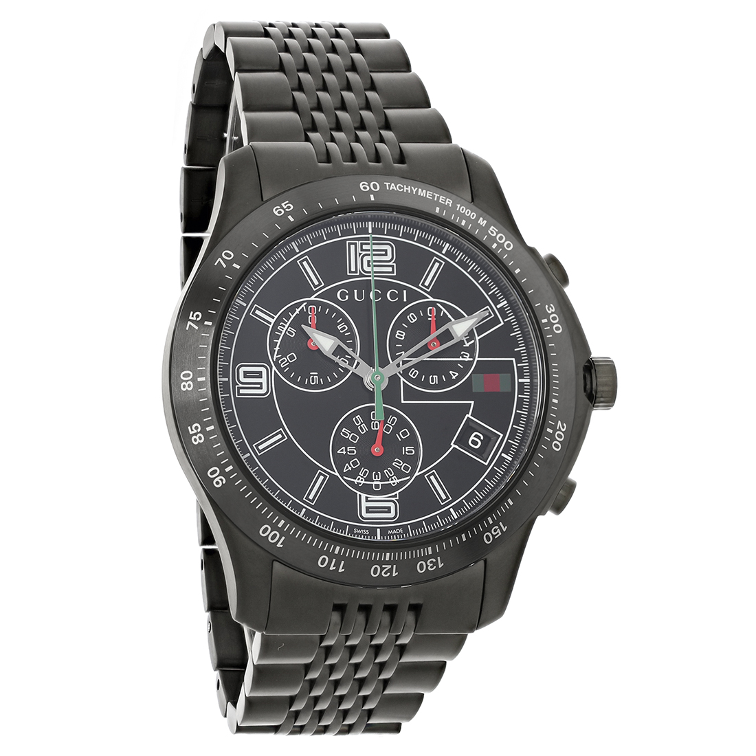 gucci 126 gtimeless mens black dial swiss chronograph