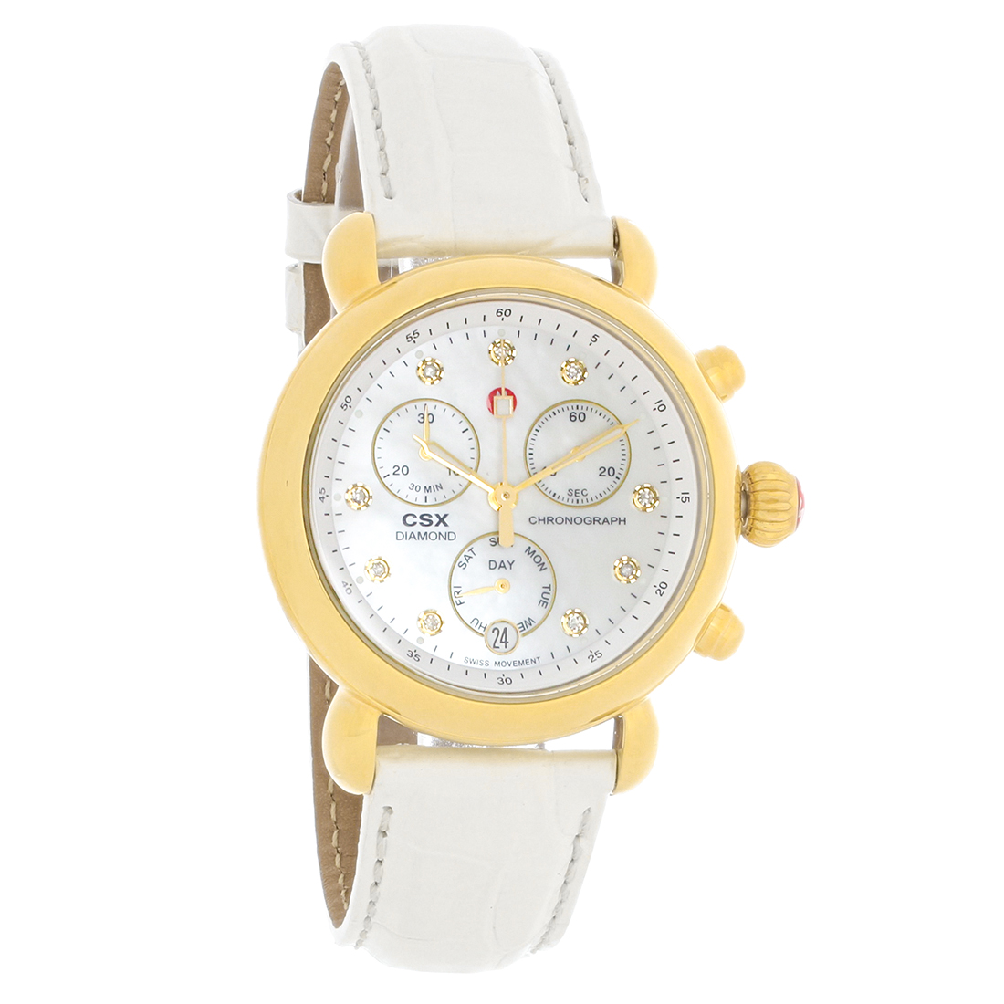dial j mother chronograph diamond jewelers dunn sidney of r michele pearl yellow watches gold watch m