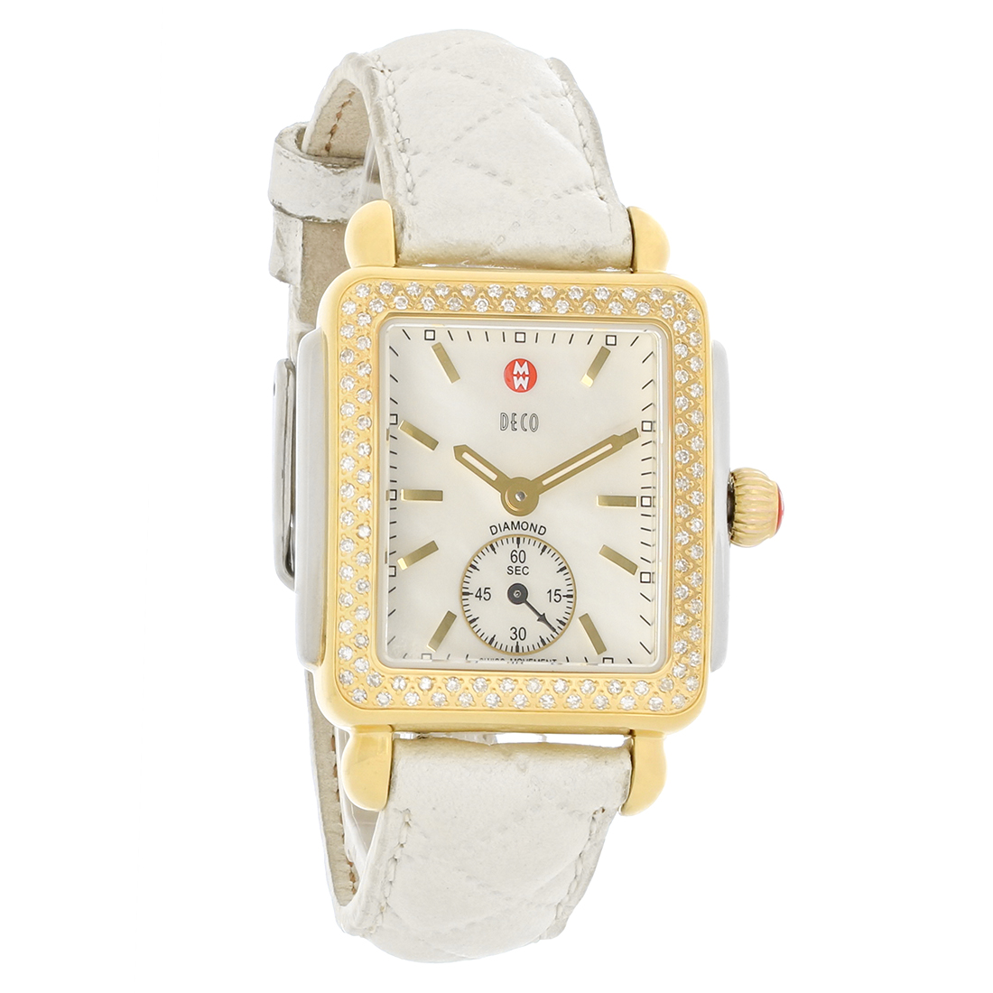 watches rose gold deco beige head dial michele little diamond watch products