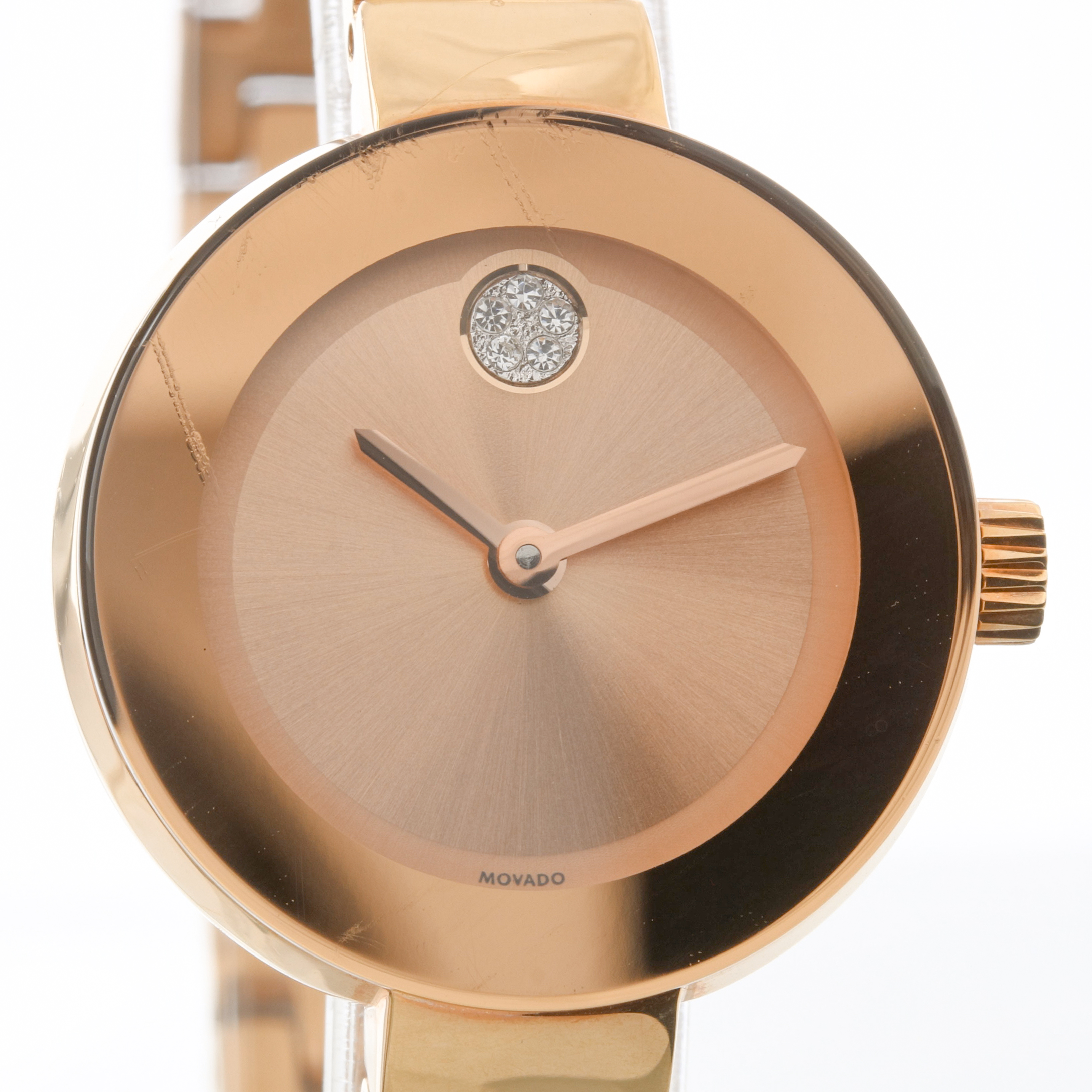 e8e526017d1 Movado Ladies Bold Champagne Dial Rose Gold Swiss Quartz Watch 3600286