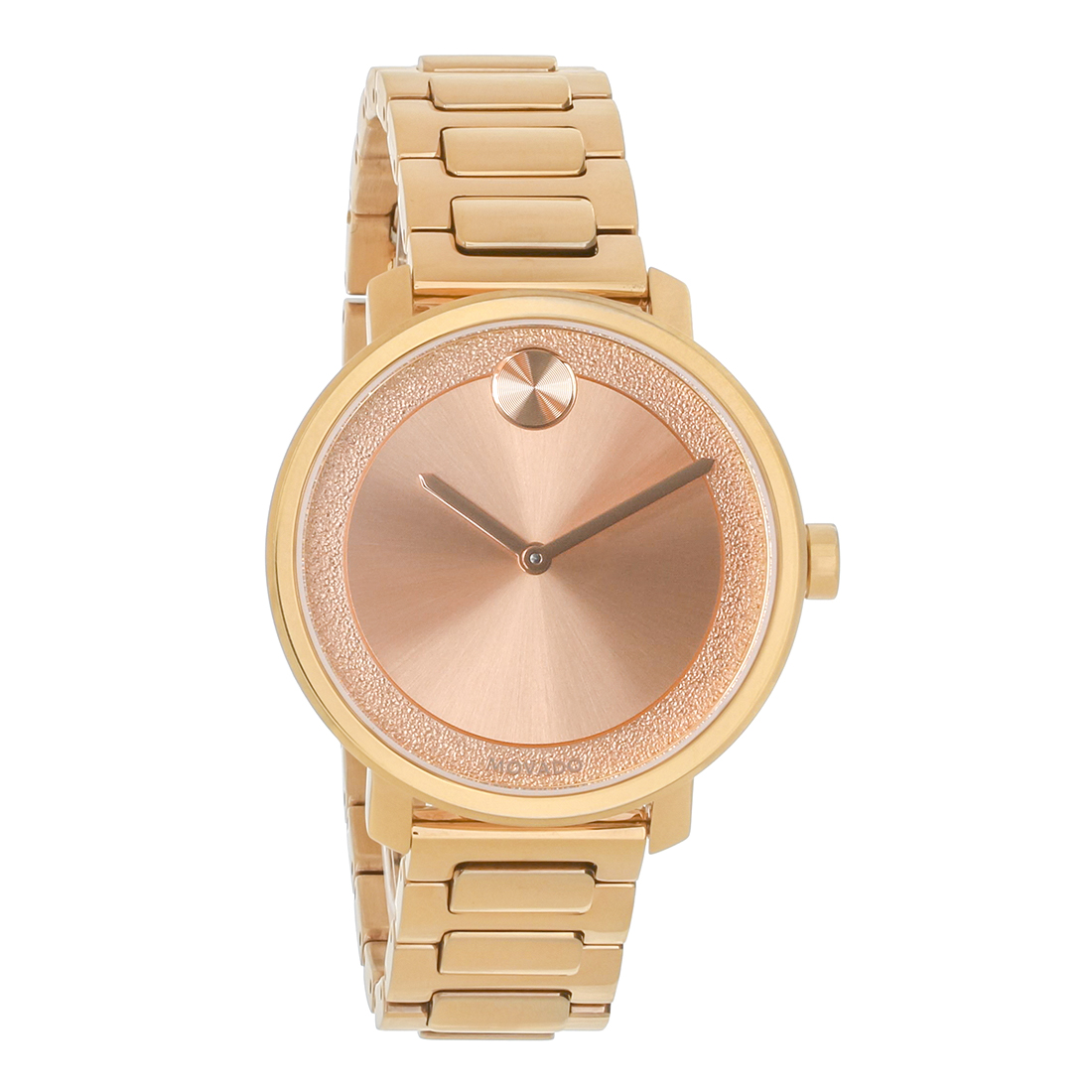 4b4f69ce44d Movado Bold Ladies Rose Gold Tone Stainless Steel Swiss Quartz Watch 3600503
