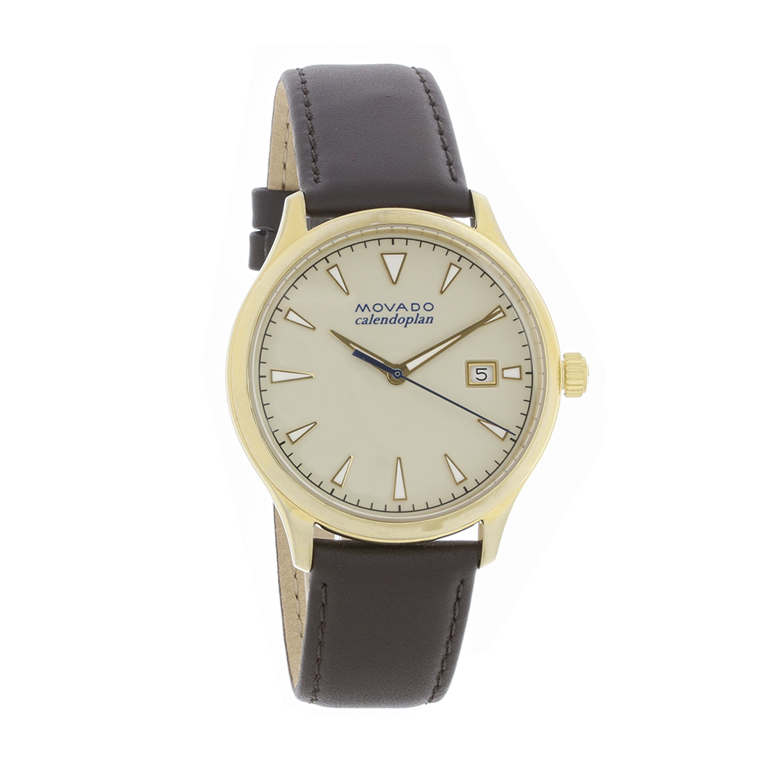 c36a7e2b3ab Movado Heritage Calendoplan Mens Gold Plated Stainless Quartz Watch 3650003