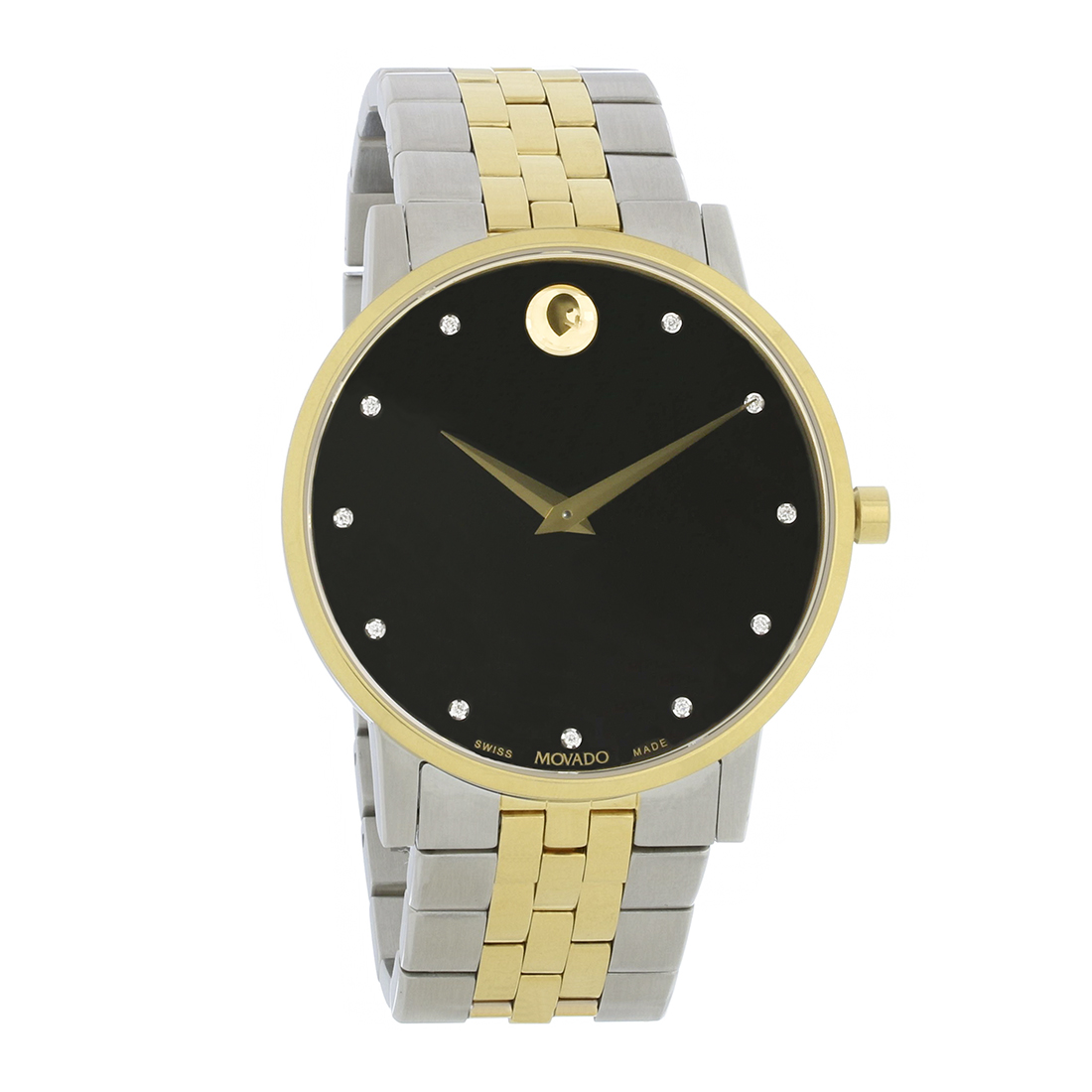 f1c2ee28f9c Movado Museum Classic Mens Two Tone Stainless Steel Diamond Quartz Watch  0607202