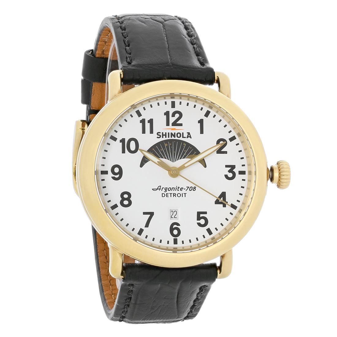 Shinola the runwell mens argonite 708 detroit swiss quartz watch 10000182 ebay for Argonite watches