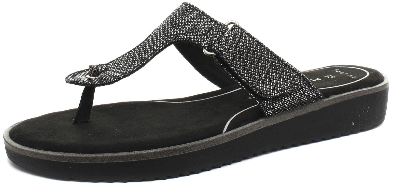 Marco Tozzi 27101 Silver Womens Flip Flops Toe Post Sandals Size UK 3.5 EU 36
