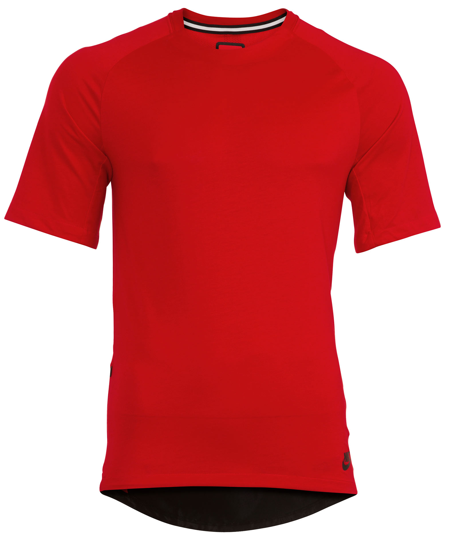New-Nike-Sportswear-Bonded-Mens-Red-Short-Sleeve-Top-T-shirt-Size-M