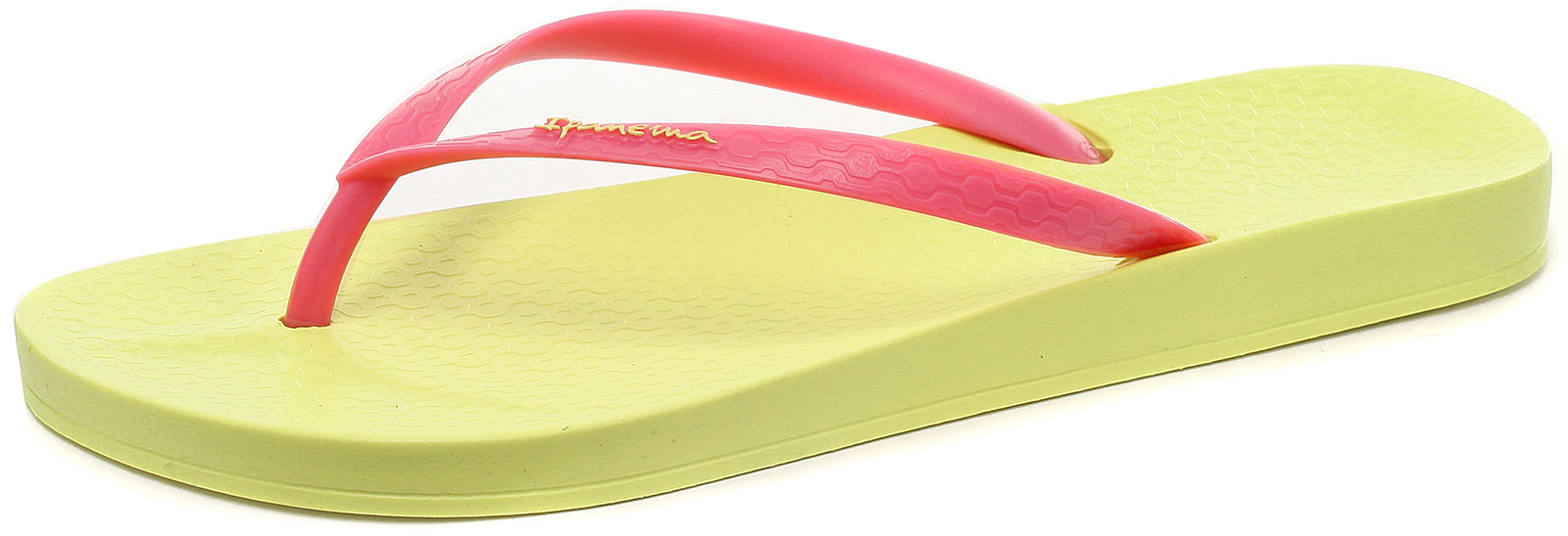 Ipanema Beach Brasil Tropical Lemon/Pink Womens Beach Ipanema Flip Flops Size () eaa8de