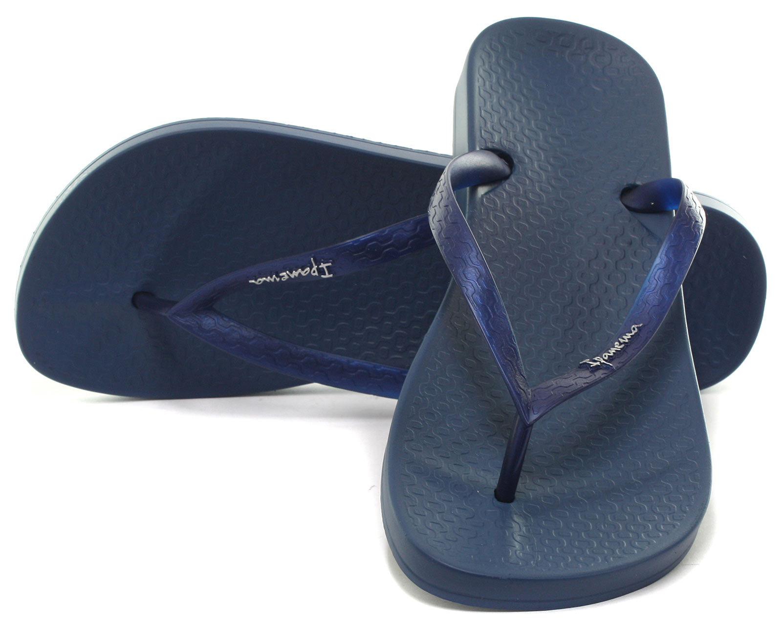 Azul marino para mujer Ipanema Brasil Tropical Playa Flip flop size UK 5 (UE 38)