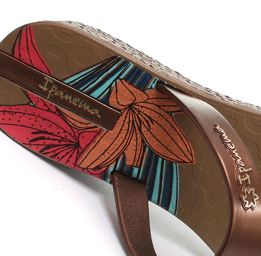e7bc2861aee5 New Ipanema Brasil Hibiscus Womens Wedge Flip Flops ALL SIZES AND ...