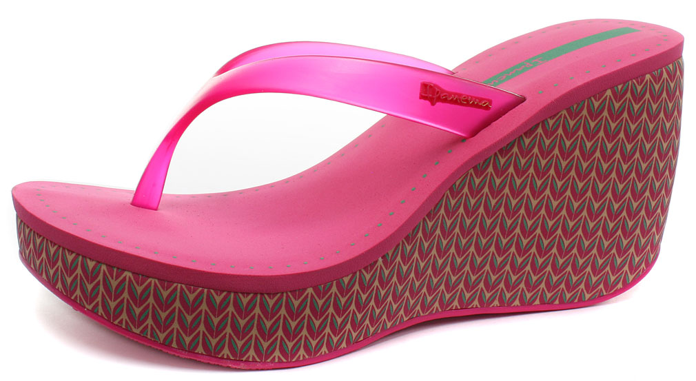 c7fb604c76eb Ipanema Brasil Lipstick Thong Pink Womens Wedge Flip Flops Size UK 7 ...