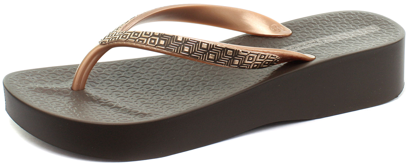 de71f316dca6fb Ipanema Brasil Mesh II Platform Brown Womens Flip Flops Size UK 8 EU 41 42  1 of 6Only 1 available ...
