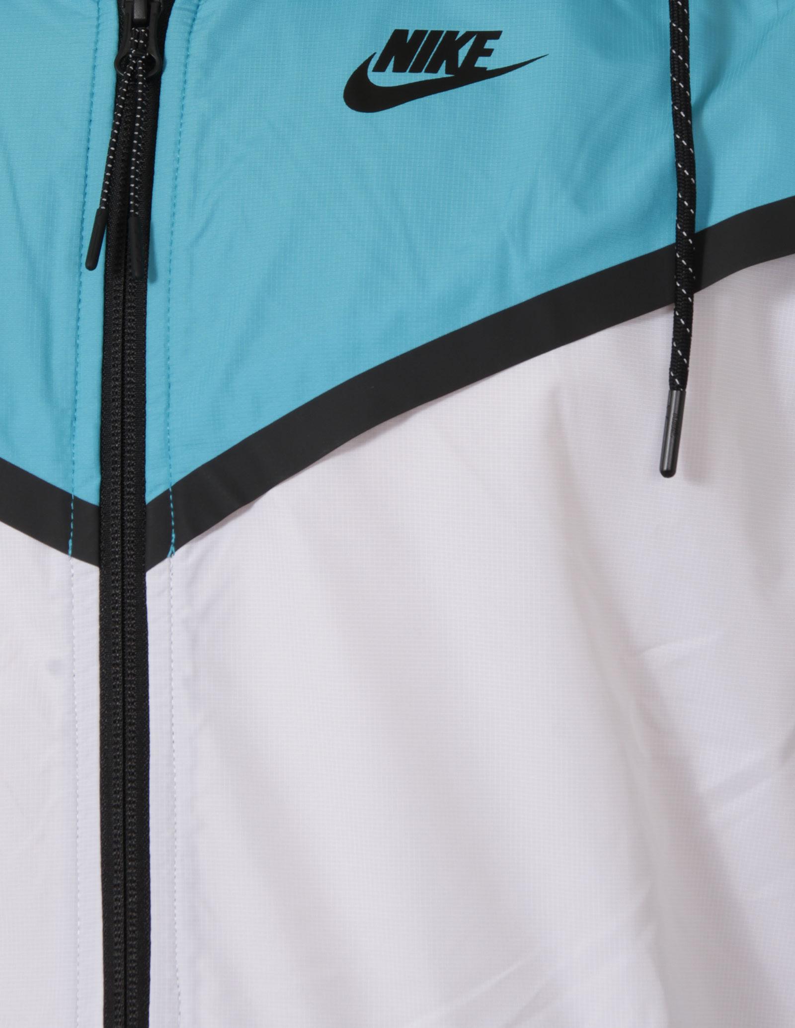 New Nike Tech Hypermesh Windrunner Mens White Blue Hooded Jacket Size L 3 3  sur 6 ... e224320f9