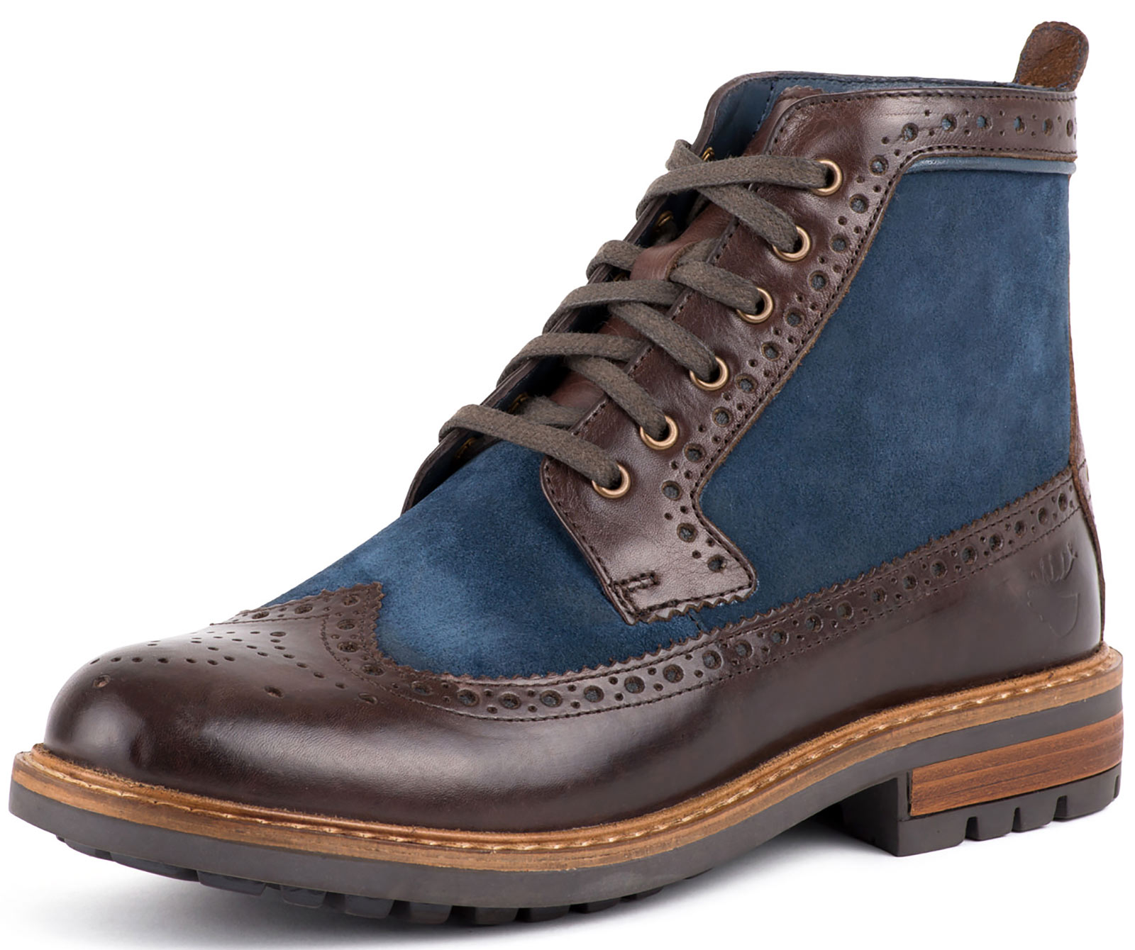 New Goodwin Smith Marshall Leather Suede Mens Brogue Stiefel ALL GrößeS
