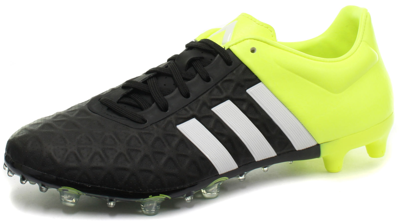 adidas Ace 15.2 FG AG Blk Yellow Mens Football Boots   Soccer Cleats ... 3420f1c6fc6d5