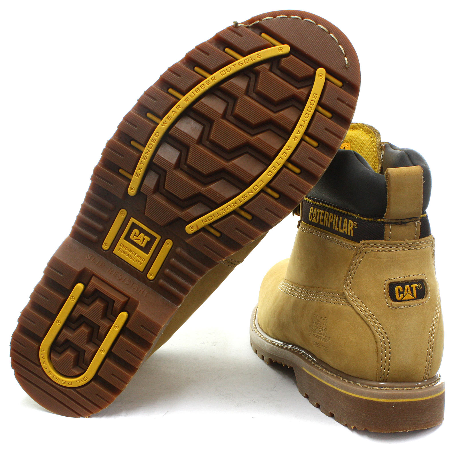 Caterpillar CAT CAT CAT Holton Mens Steel Toe Safety Boots ALL SIZES AND COLOURS 03f395
