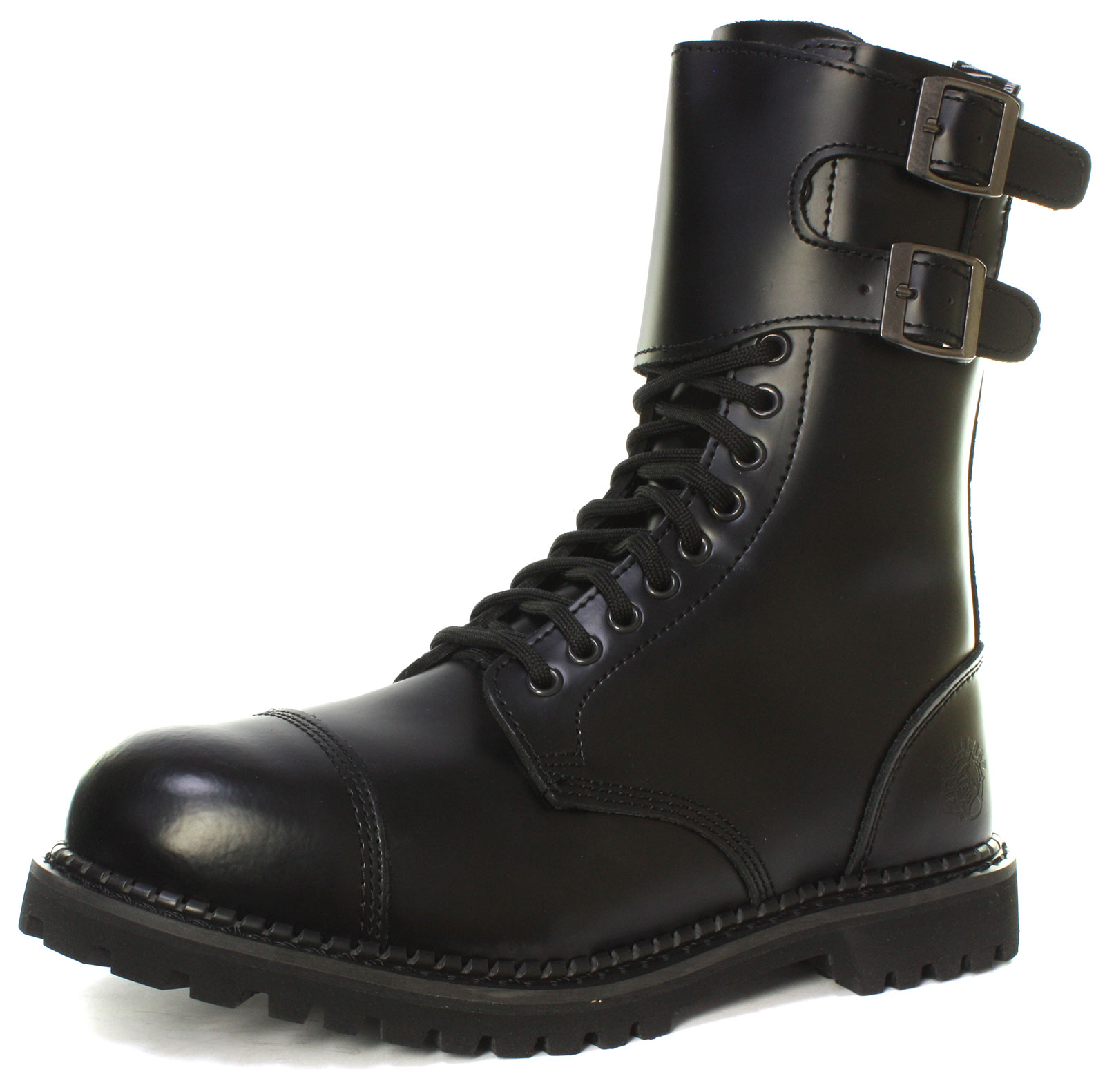 Grinders-Camelot-CS-14-Eyelet-Twin-Buckle-Unisex-Steel-Toe-Boots-ALL-SIZES