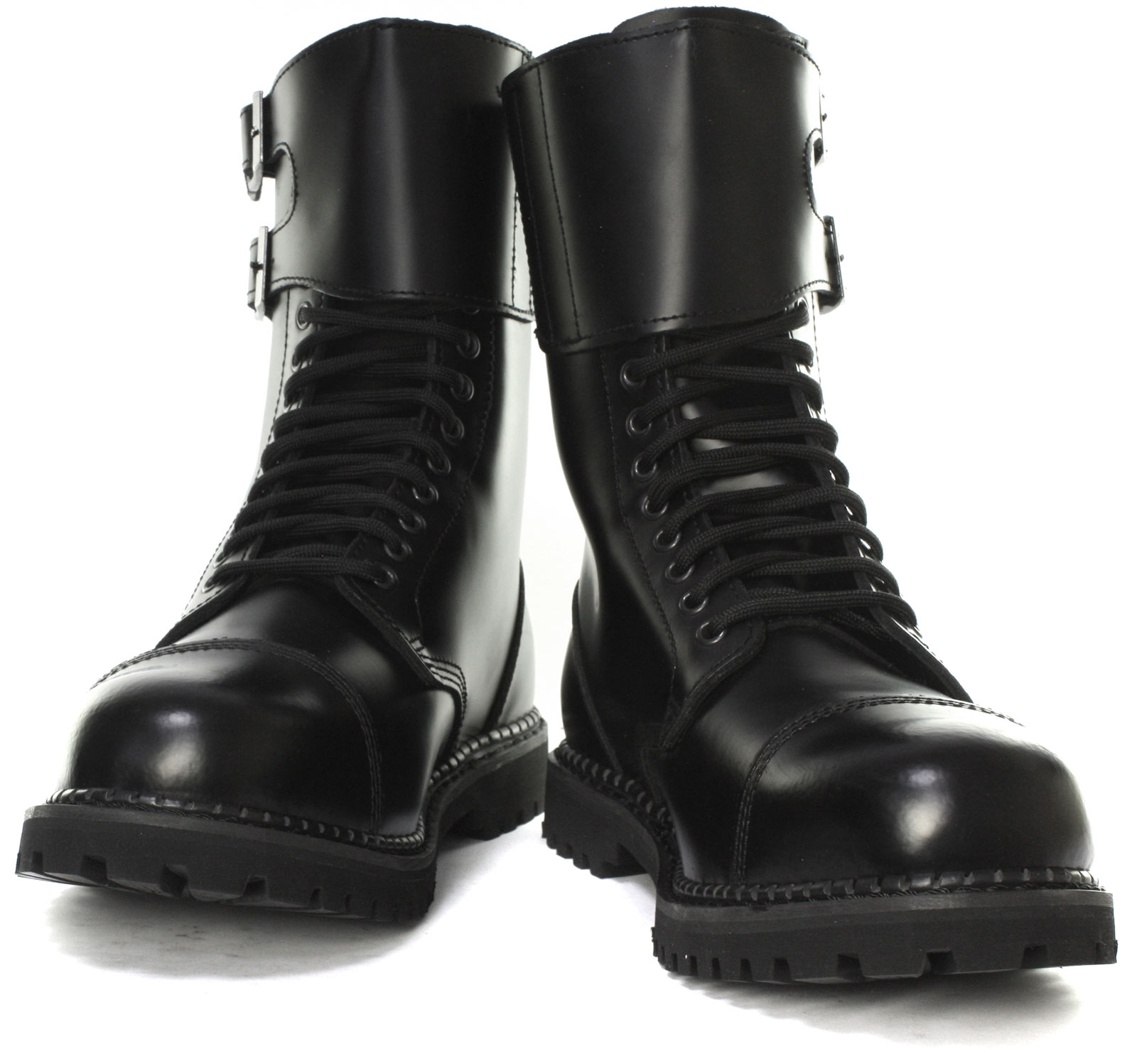 Grinders-Camelot-CS-14-Eyelet-Twin-Buckle-Unisex-Steel-Toe-Boots-ALL-SIZES thumbnail 2
