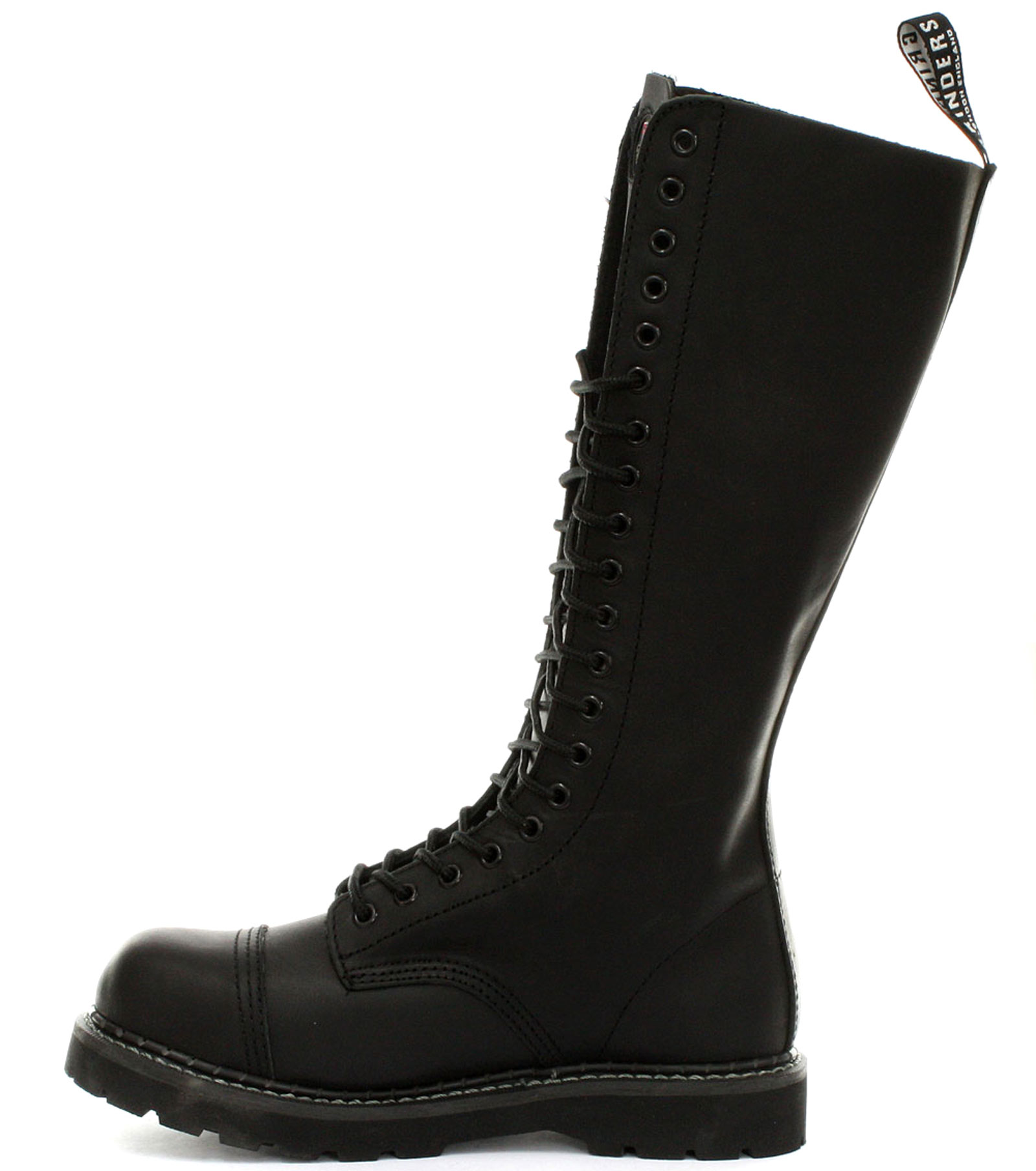 Grinders King 2015 Black Womens Safety Steel Toe Derby Boots ALL SIZES