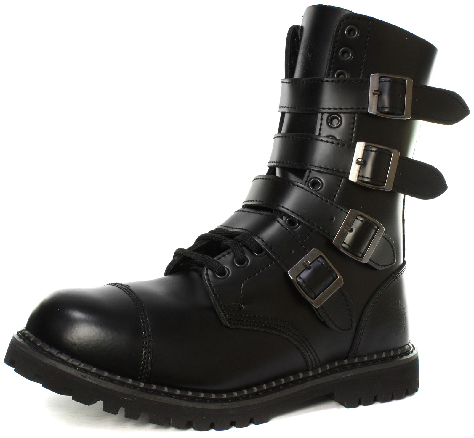 Grinders Quad CS 14 Eyelet Buckle Uni Steel Toe Derby Boots ALL SIZES