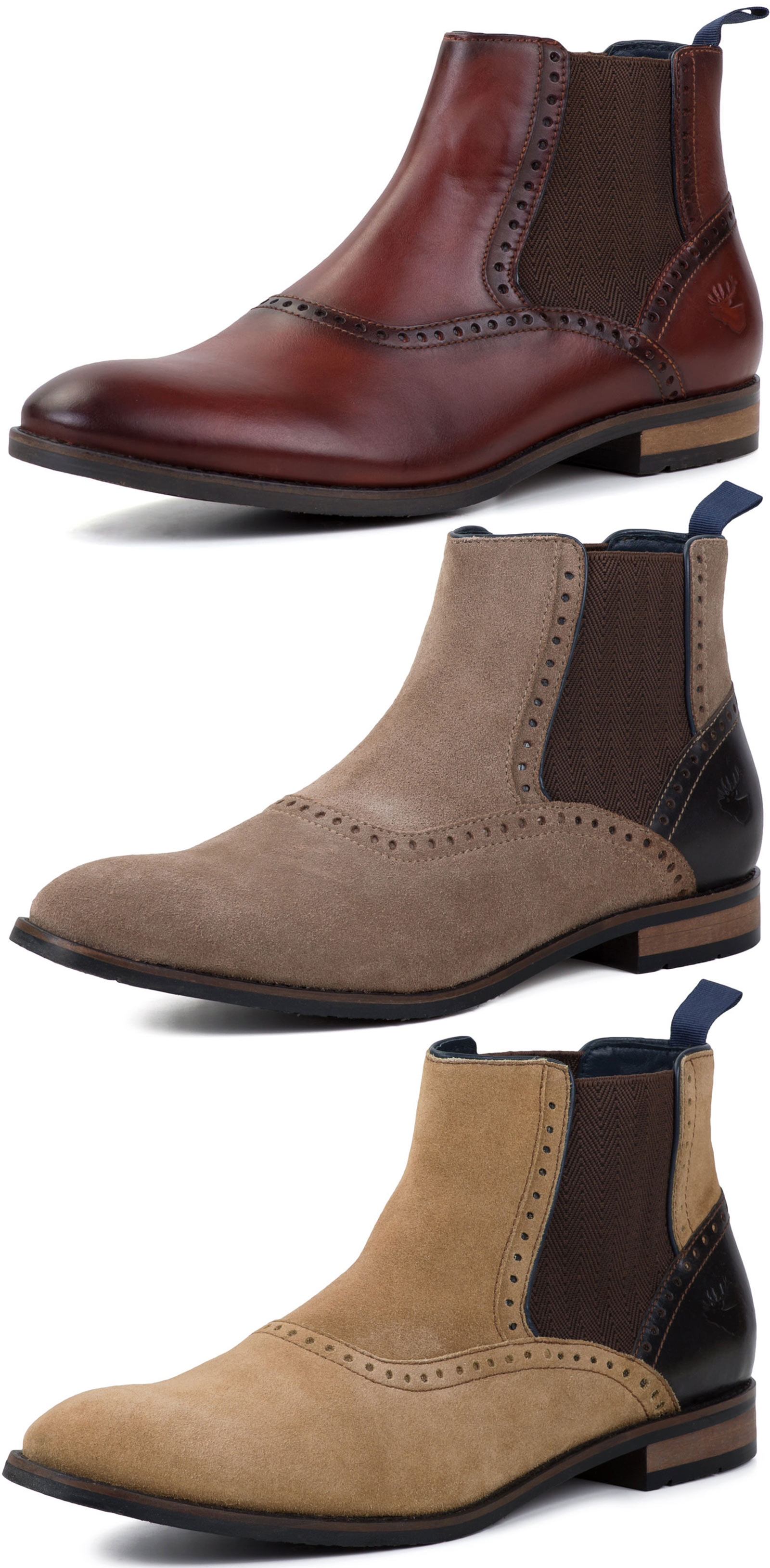 New Goodwin Smith Bailey Mens Chelsea Boots ALL SIZES AND COLOURS