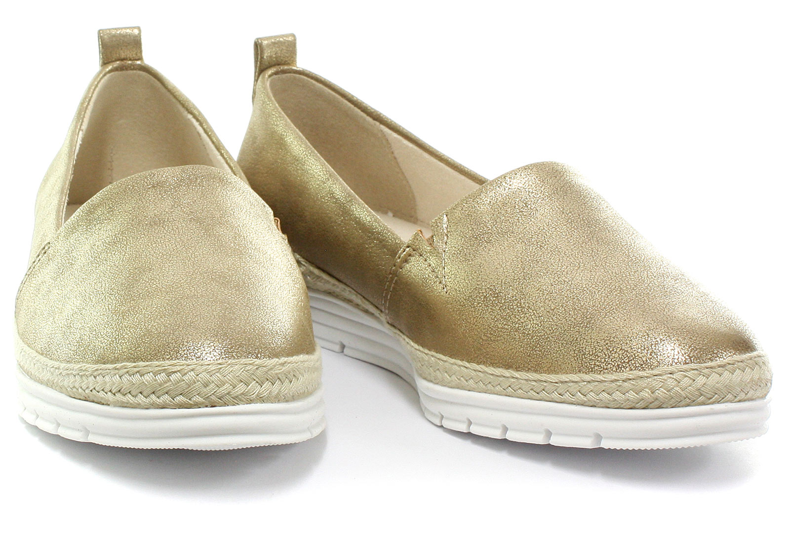Cipriata-Manuela-Gold-Womens-Side-Gusset-Casual-Slip-On-Shoes-ALL-SIZES miniature 2