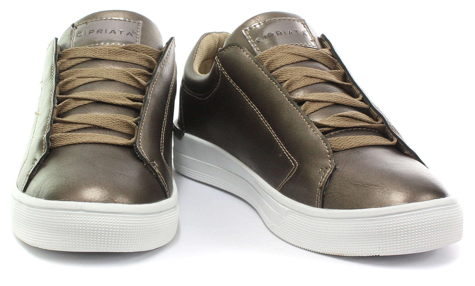 New-Cipriata-Alberta-Bronze-Womens-Glamour-Casual-Trainers-ALL-SIZES miniature 2