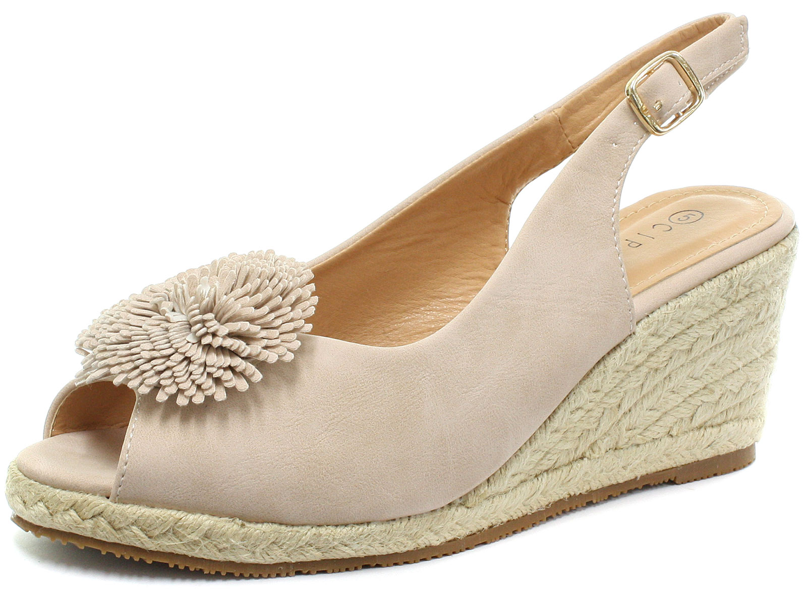 New-Cipriata-Alessandra-Womens-Buckle-Wedge-Heel-Sandals-ALL-SIZES
