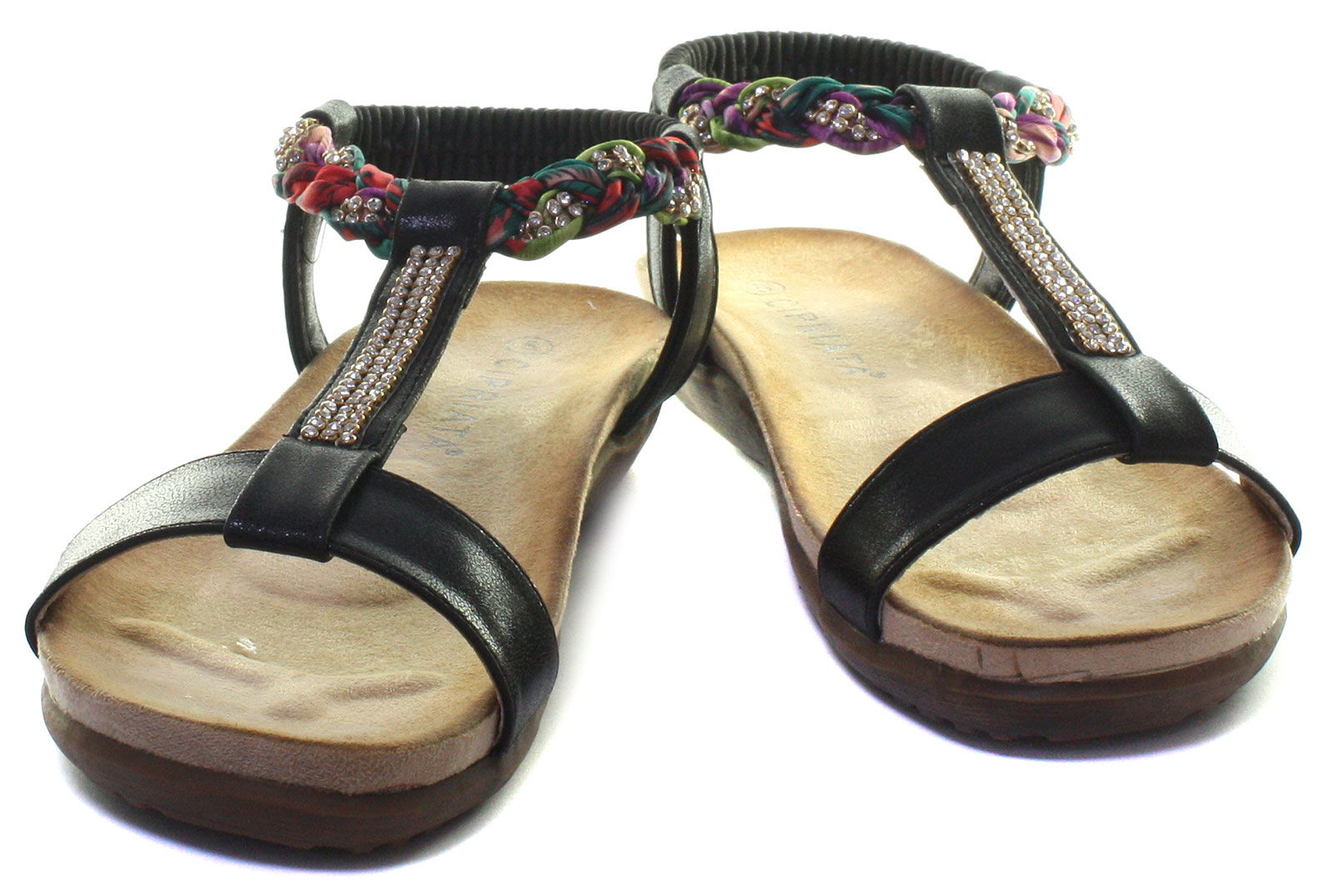 New-Cipriata-Gemma-Jewelled-Womens-Halter-Back-Sandals-ALL-SIZES-AND-COLOURS miniature 5