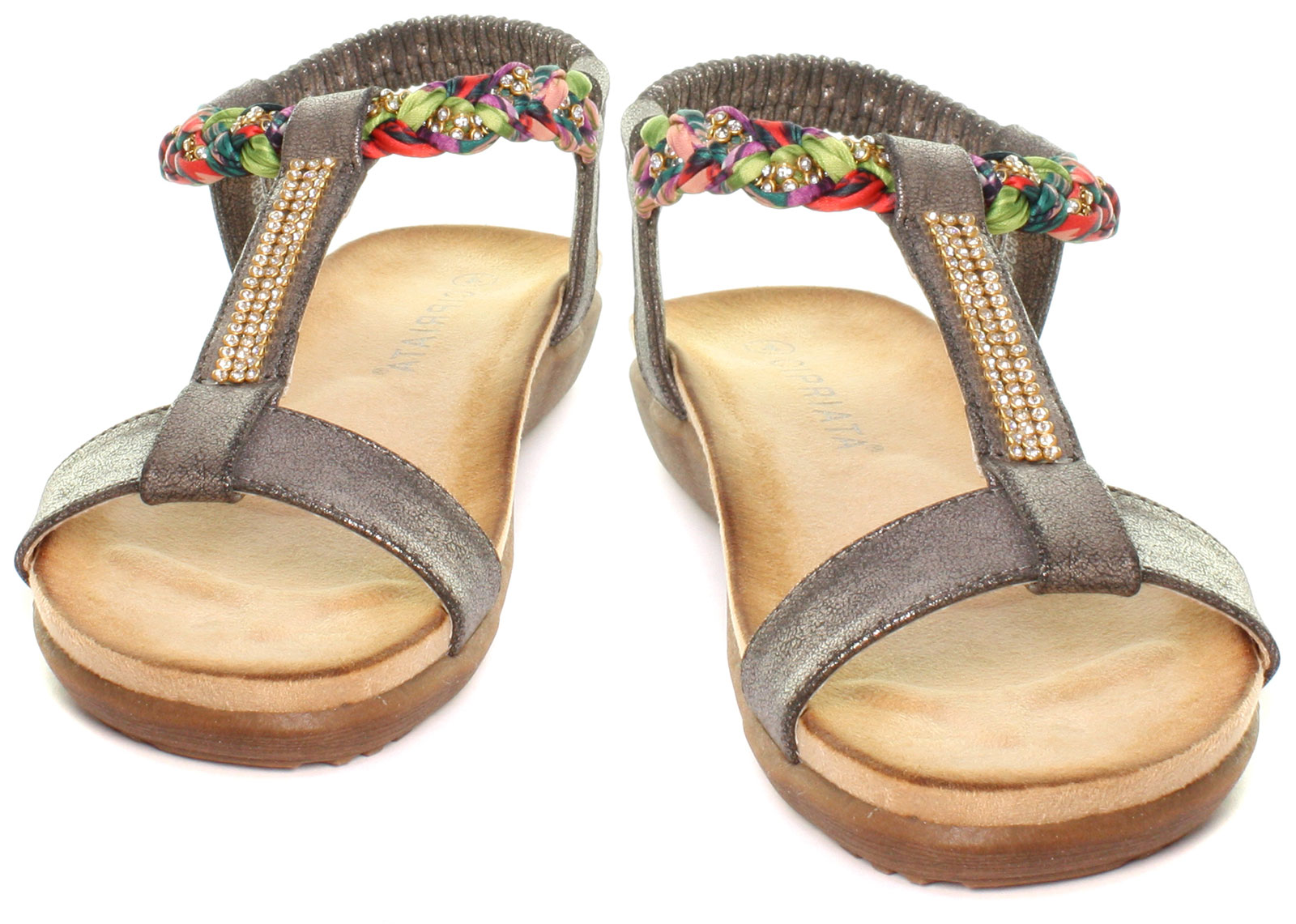 New-Cipriata-Gemma-Jewelled-Womens-Halter-Back-Sandals-ALL-SIZES-AND-COLOURS miniature 11
