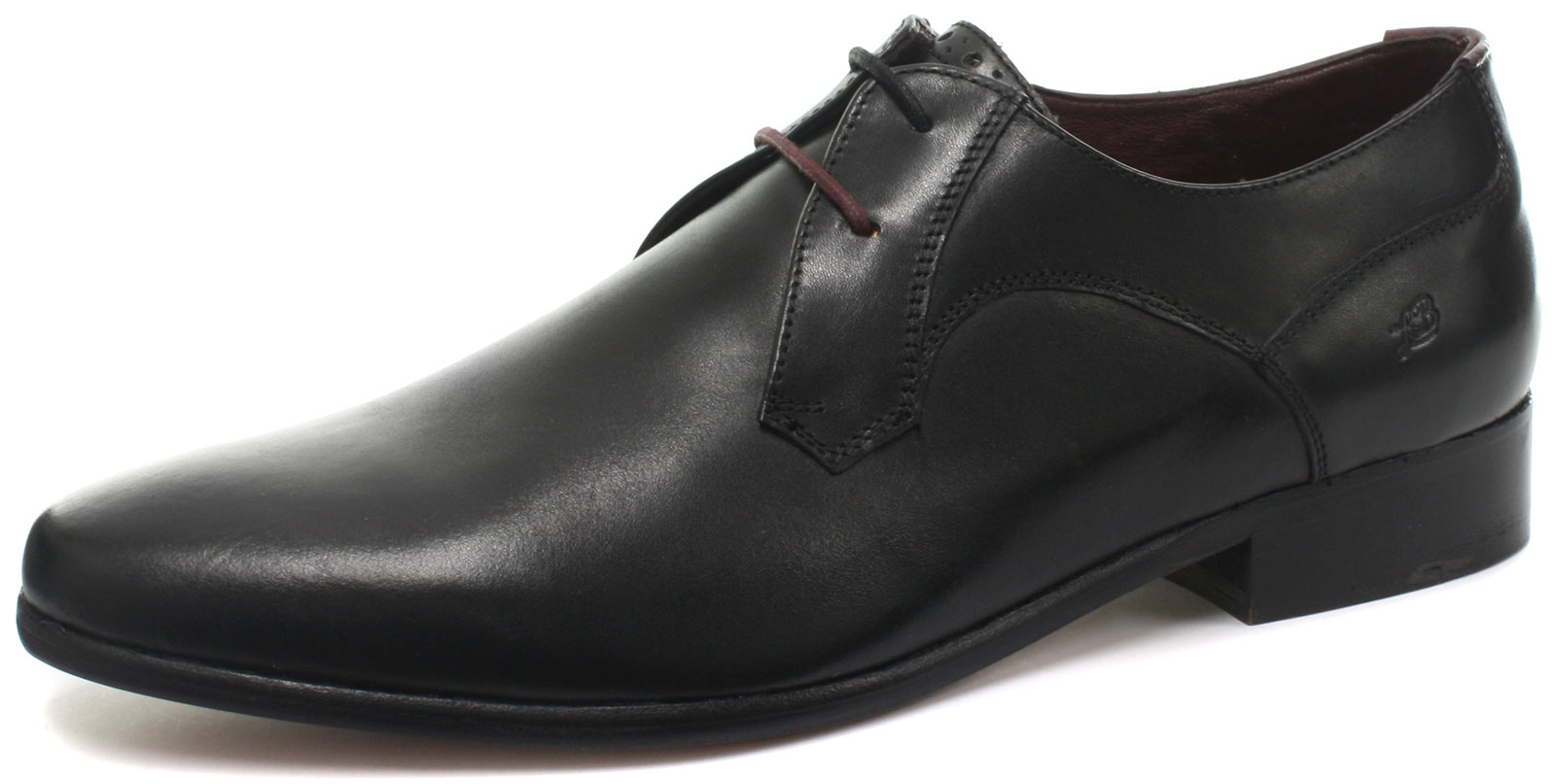 New London Brogues Axton Derby Black Mens Lace Up Shoes ALL SIZES