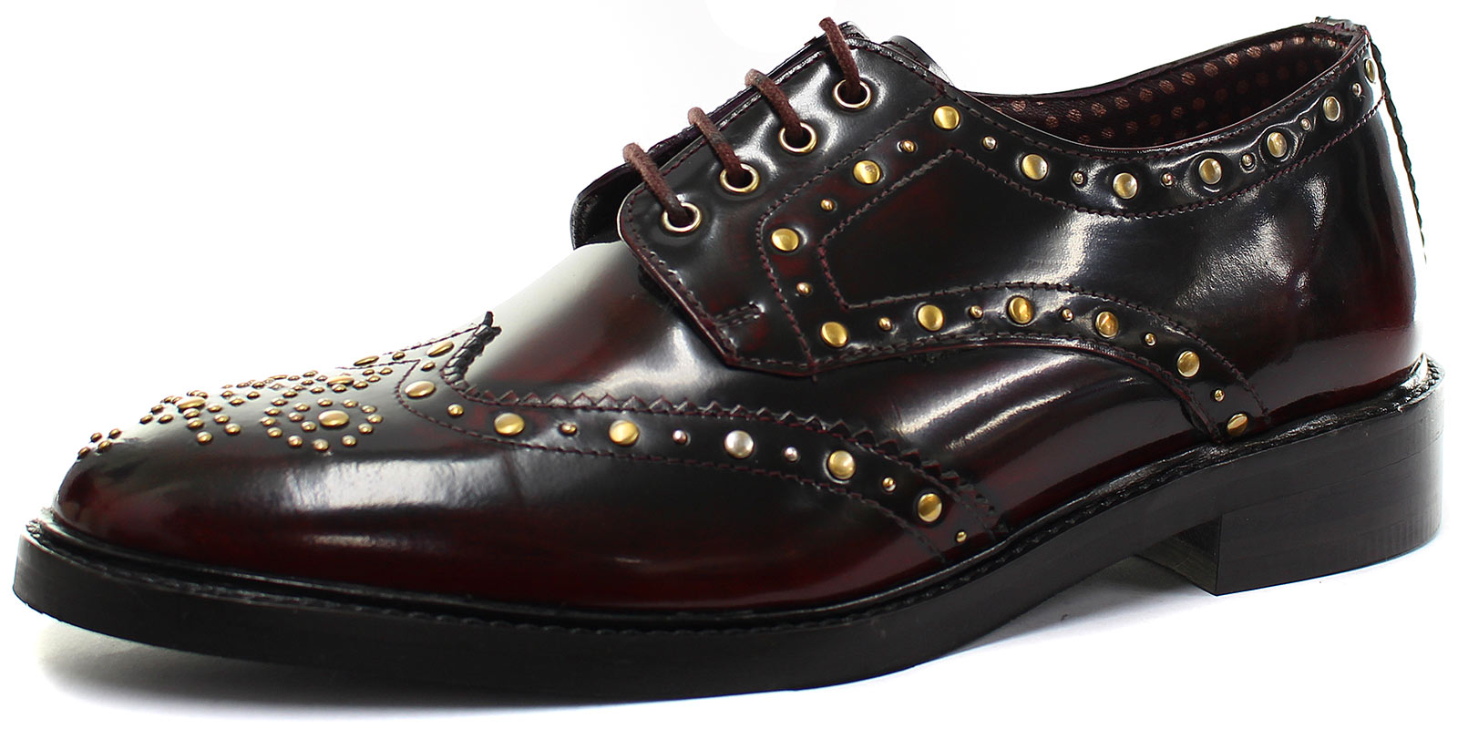 New London Brogues Brut Derby Mens Lace Up Brogue Shoes ALL SIZES AND COLOURS
