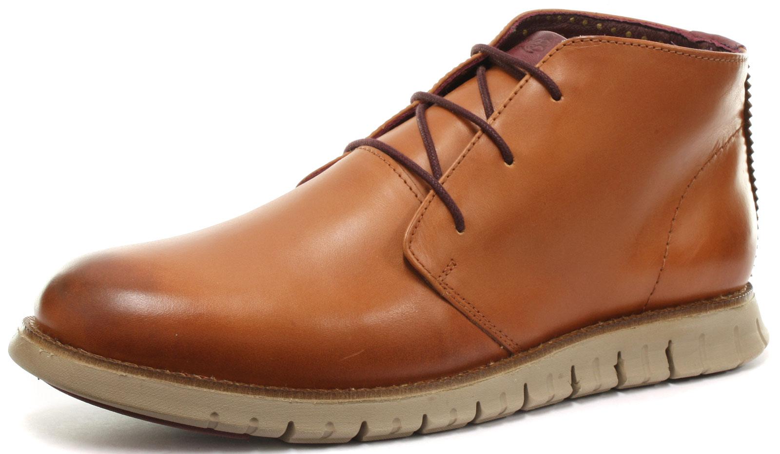 London Brogues Gatz Hi Tan Leather Mens Chukka Ankle Boots Size UK 12 (EU 46)