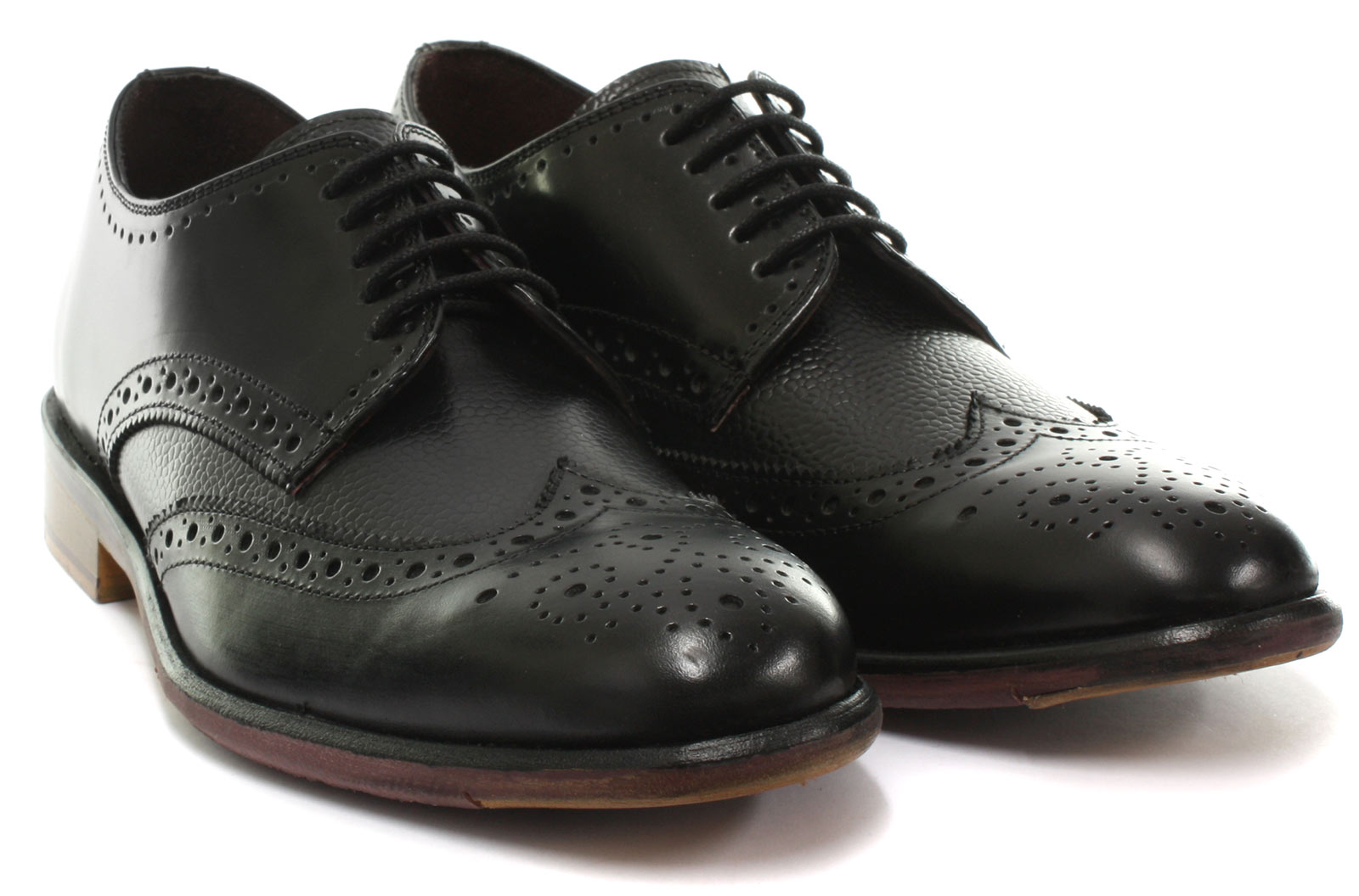 London Brogues Lincoln SIZES Derby Mens Leather Brogue Shoes ALL SIZES Lincoln AND COLOURS 3e9fe7