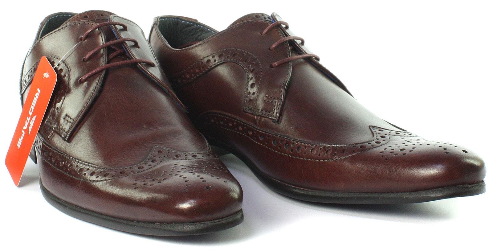Business Schuhe Herrenschuhe New Red Tape Nappa Brown Mens