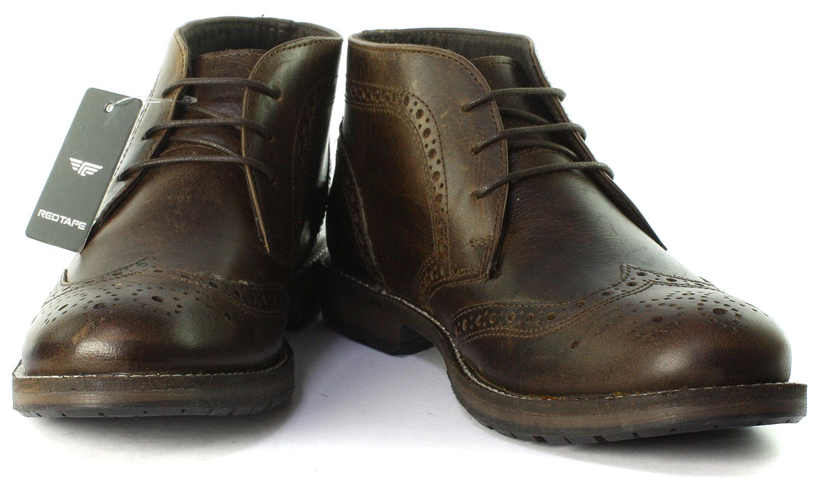 Brown los Tape hombres Henbury tamaños todos botines Brogue Nuevo Red AwBx8a