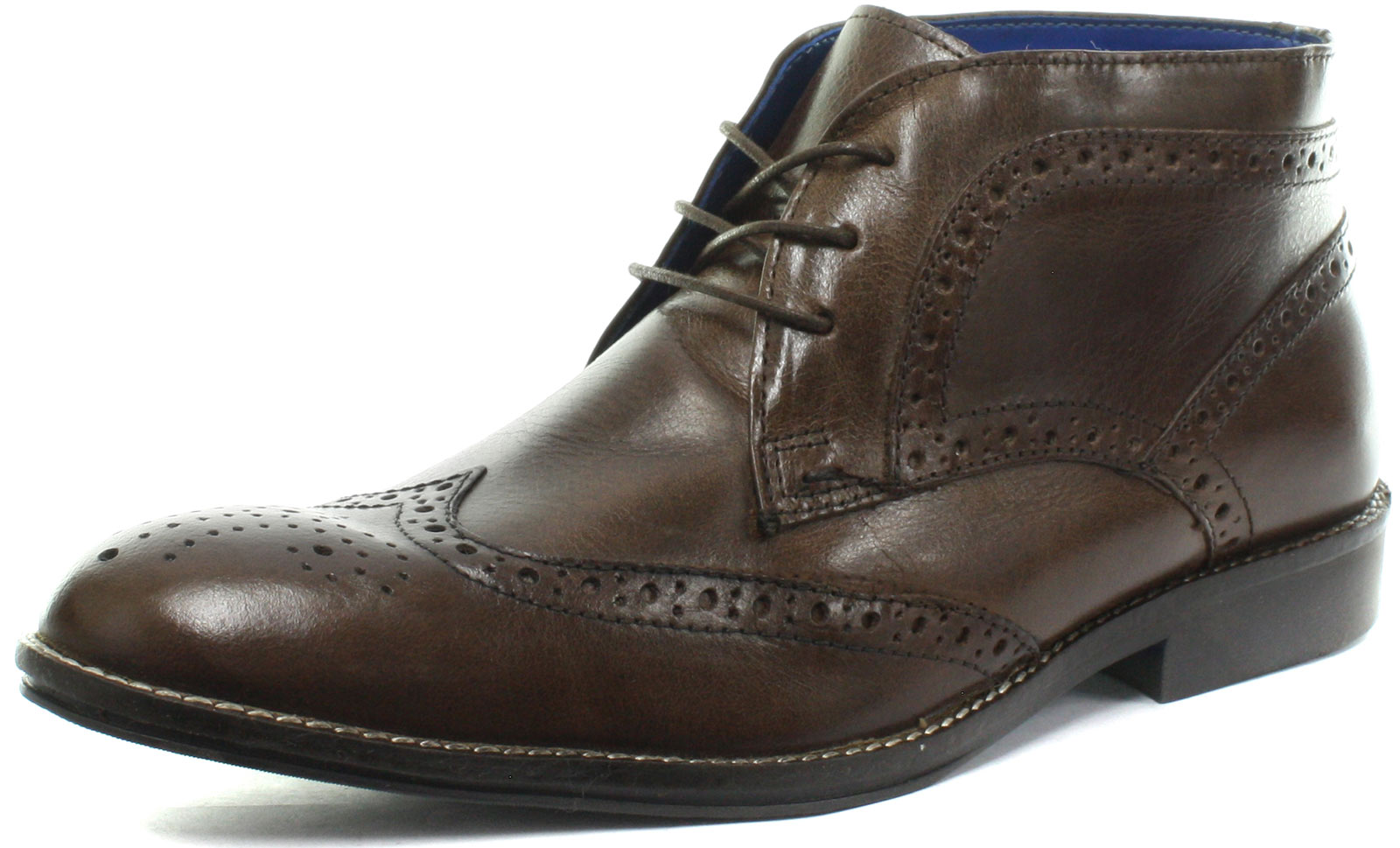 New Red Tape Milton Brown Mens Brogue Ankle Boots Size ()