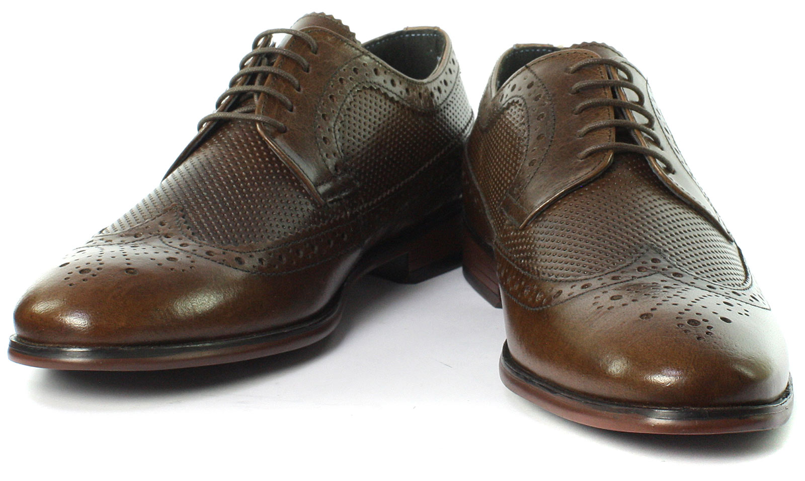 Mens Red Tape lacets Brogue Tailles Chaussures Toutes Brown Nappa New à 3RqAL45j
