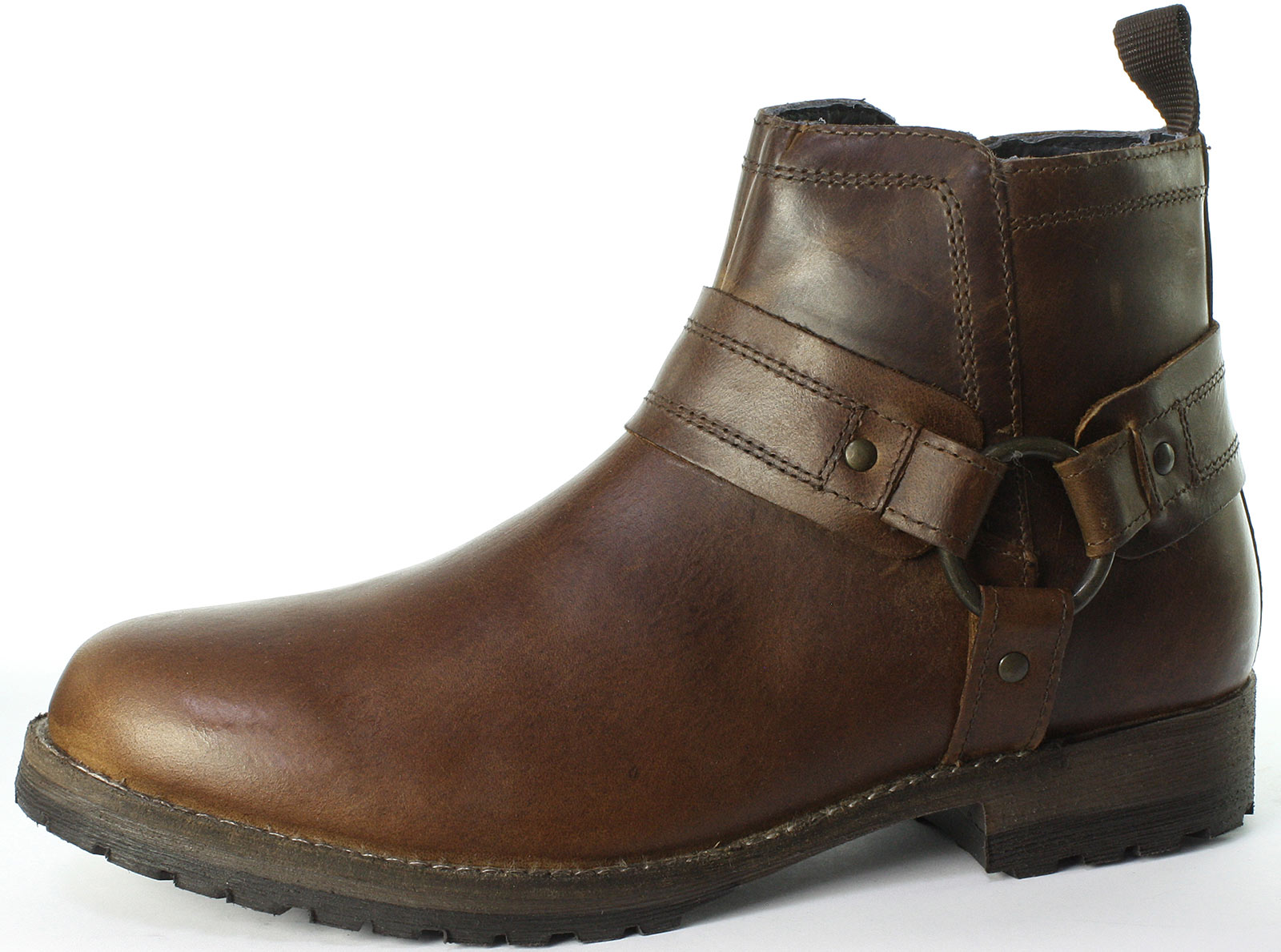 d1f4181982b8 Red Tape Bradley Men s Tan Leather Zip-up Worker BOOTS UK 10 for ...