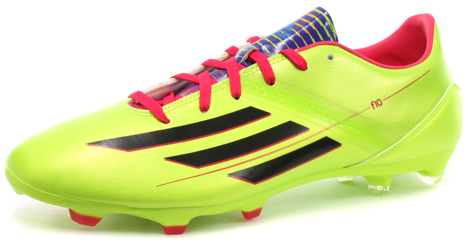 quality design 63f46 df69e Image is loading New-adidas-F10-TRX-FG-Lime-Mens-Football-