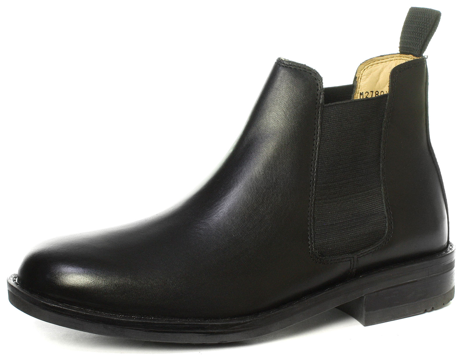 Kensington Classics Mens Twin Gusset All Leather Chelsea Boots