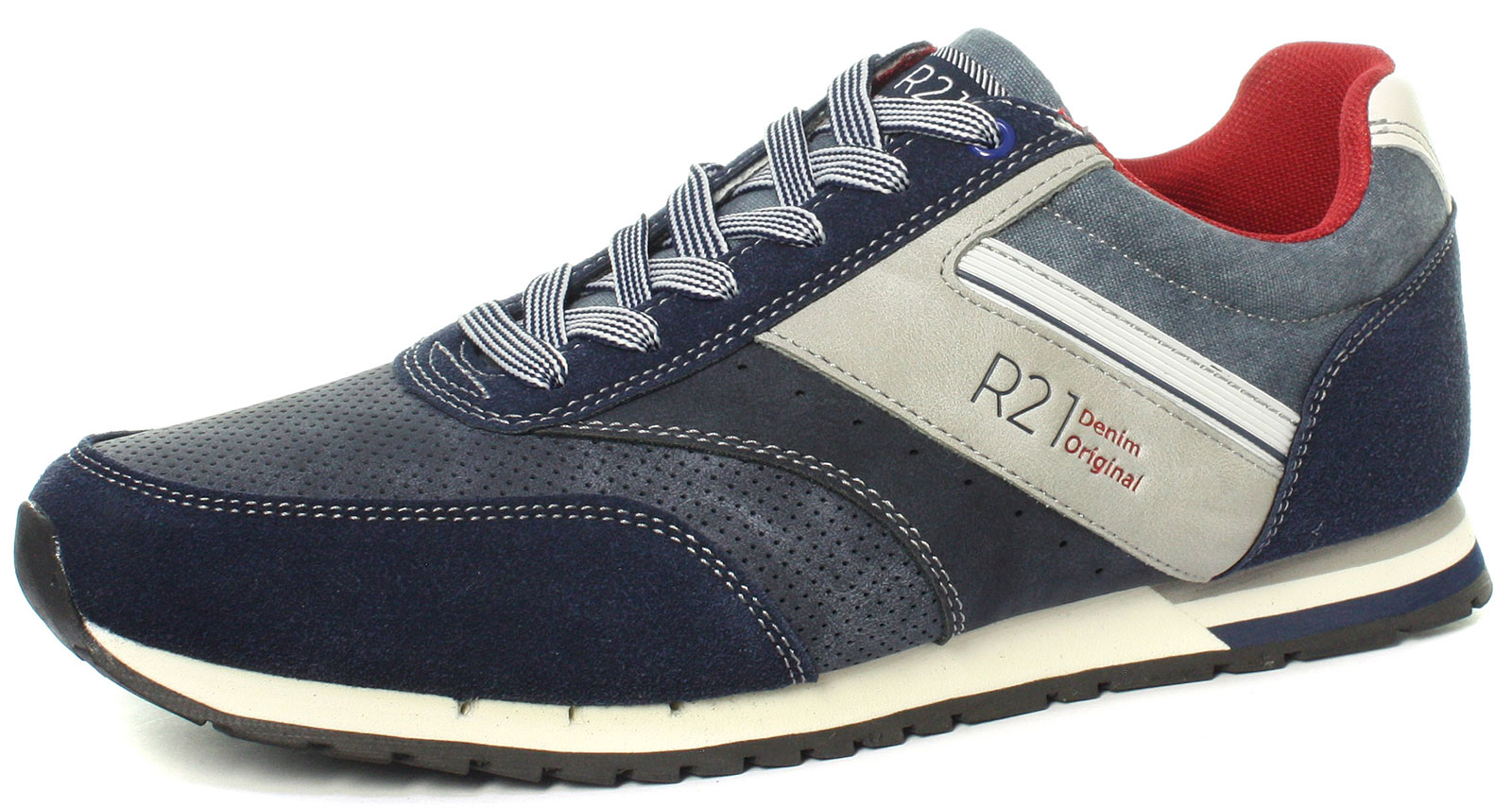 New Route 21 M708C 6 Eye Navy Mens Casual Trainer shoes Size UK 7 (EU 41)