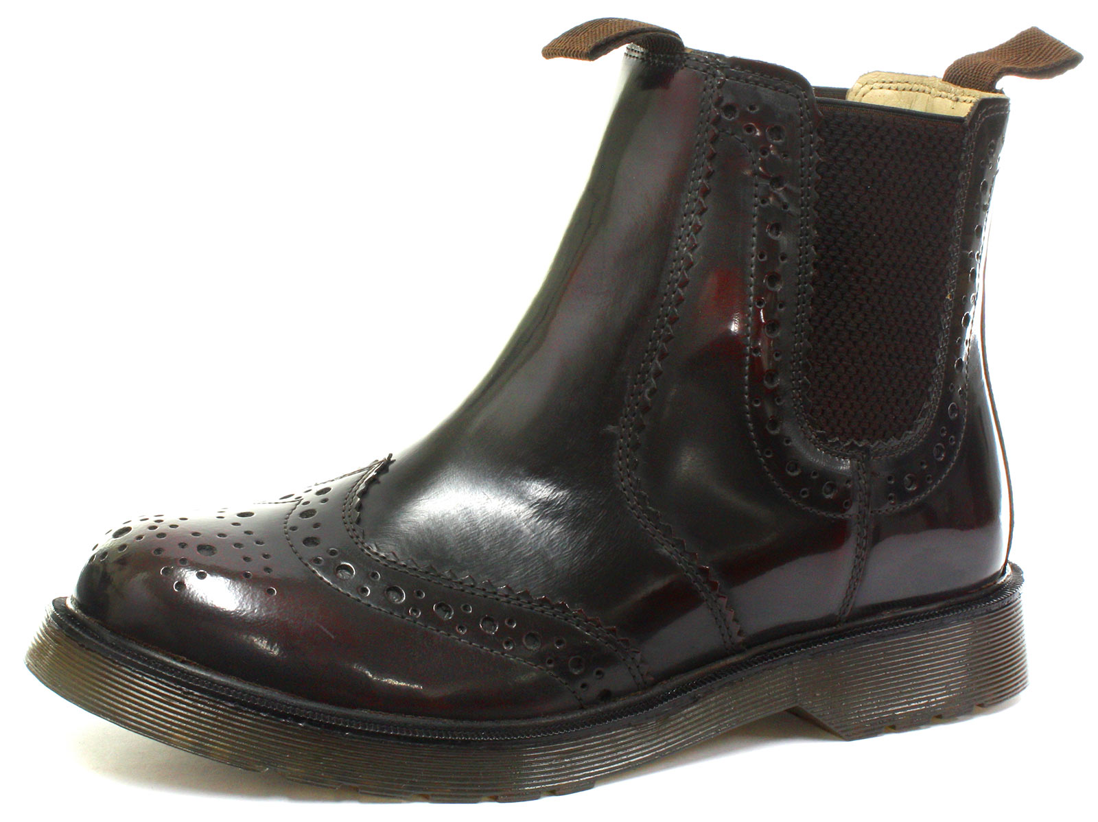 Grafters-Oxblood-Leather-Brogue-Gusset-Dealer-Mens-Boots-Size-UK-12-EU-47