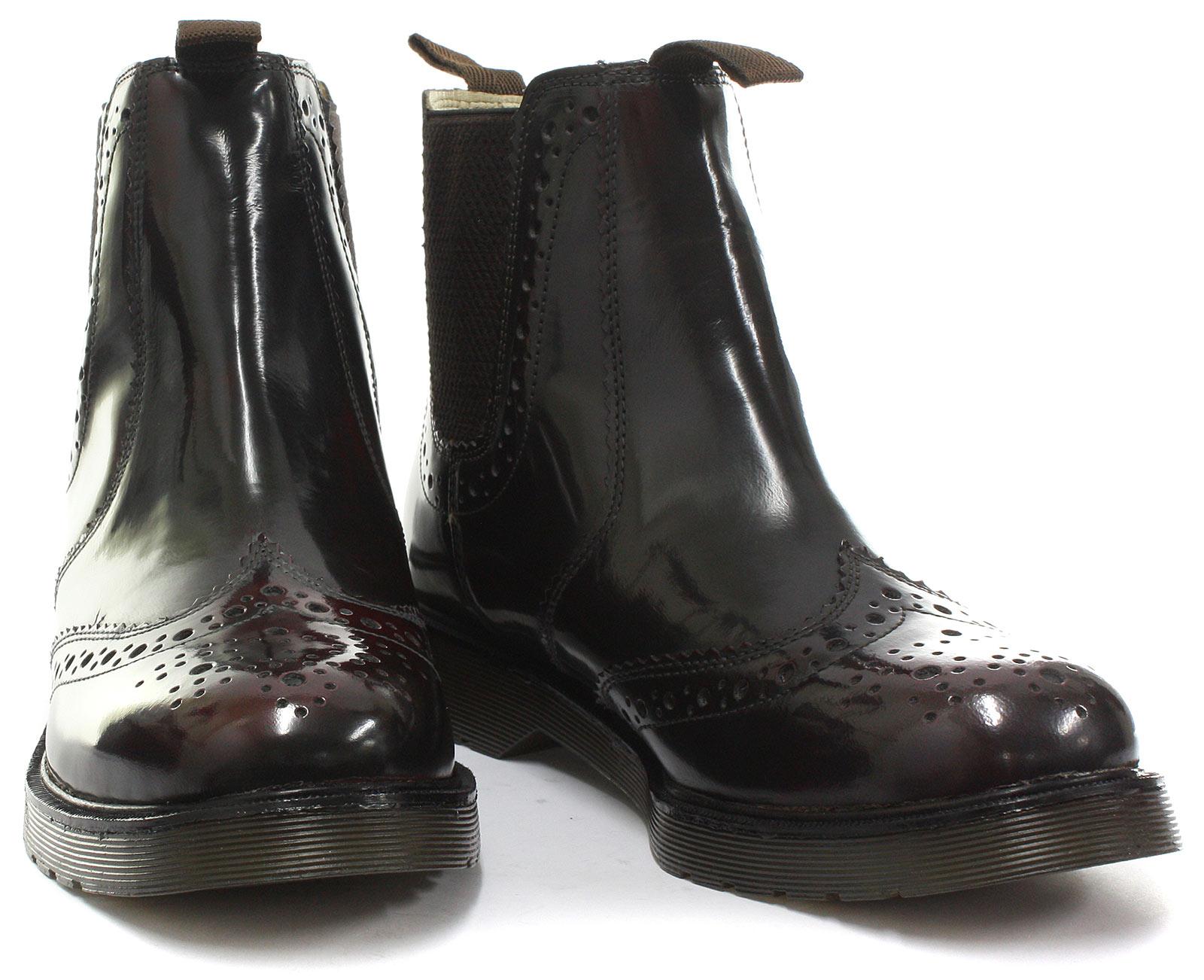Grafters Oxblood Leather Brogue Gusset Dealer Stiefel Mens Stiefel Dealer Größe UK 12 (EU 47) abbfa1