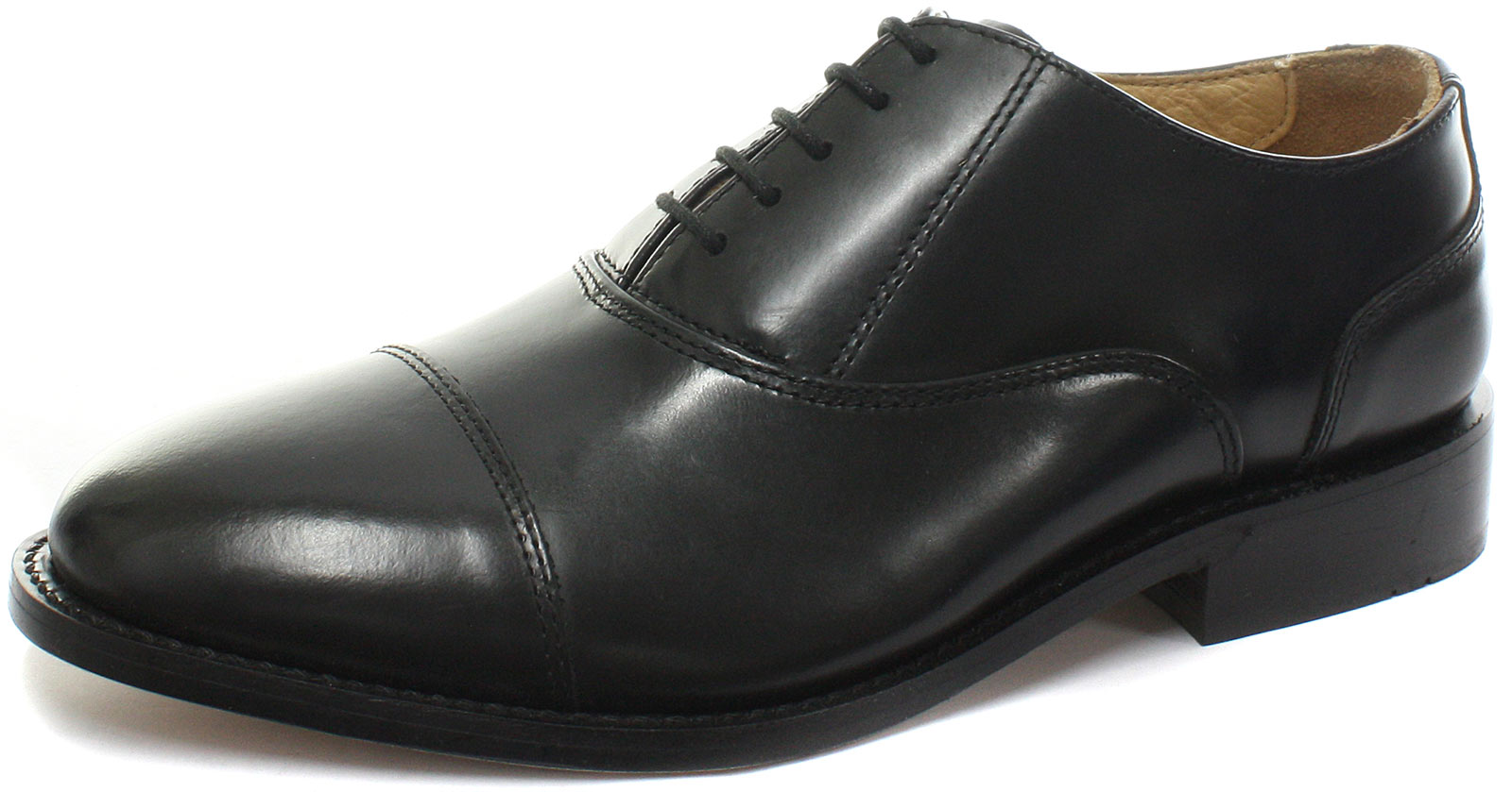 Kensington Classics Capped Oxford Black Mens Lace Up Shoes ALL SIZES