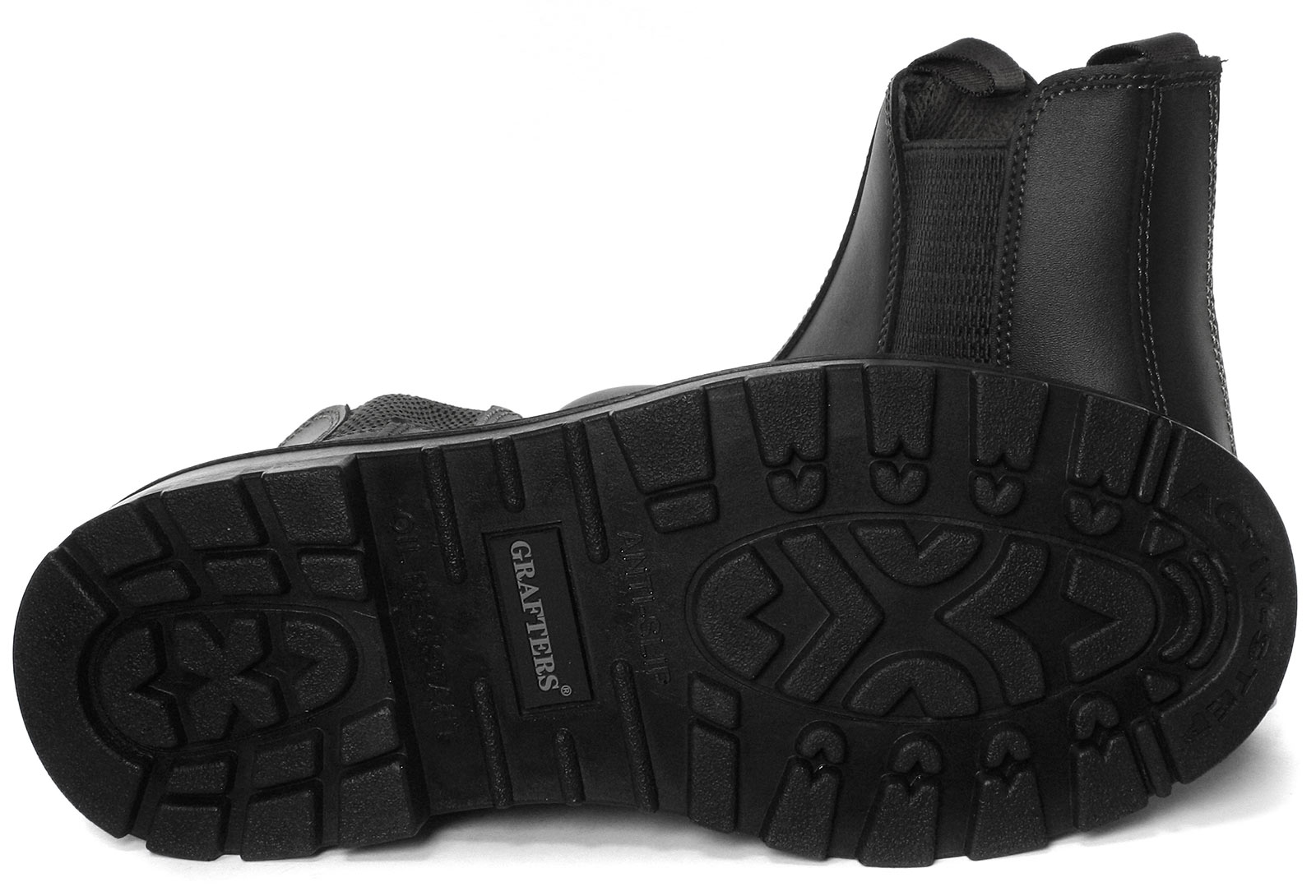 Grafters-Grinder-Twin-Gusset-Dealer-Mens-Safety-Boots-ALL-SIZES-AND-COLOURS miniature 7