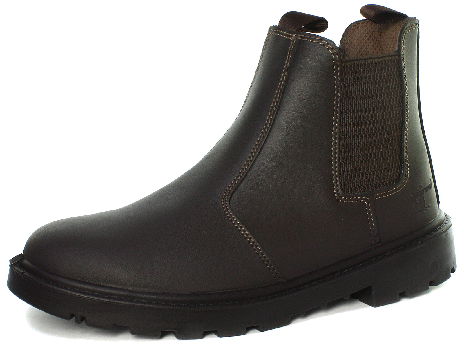 Grafters Grinder Brown Twin Gusset Dealer Mens Safety Boots Size UK 8 (EU 42)
